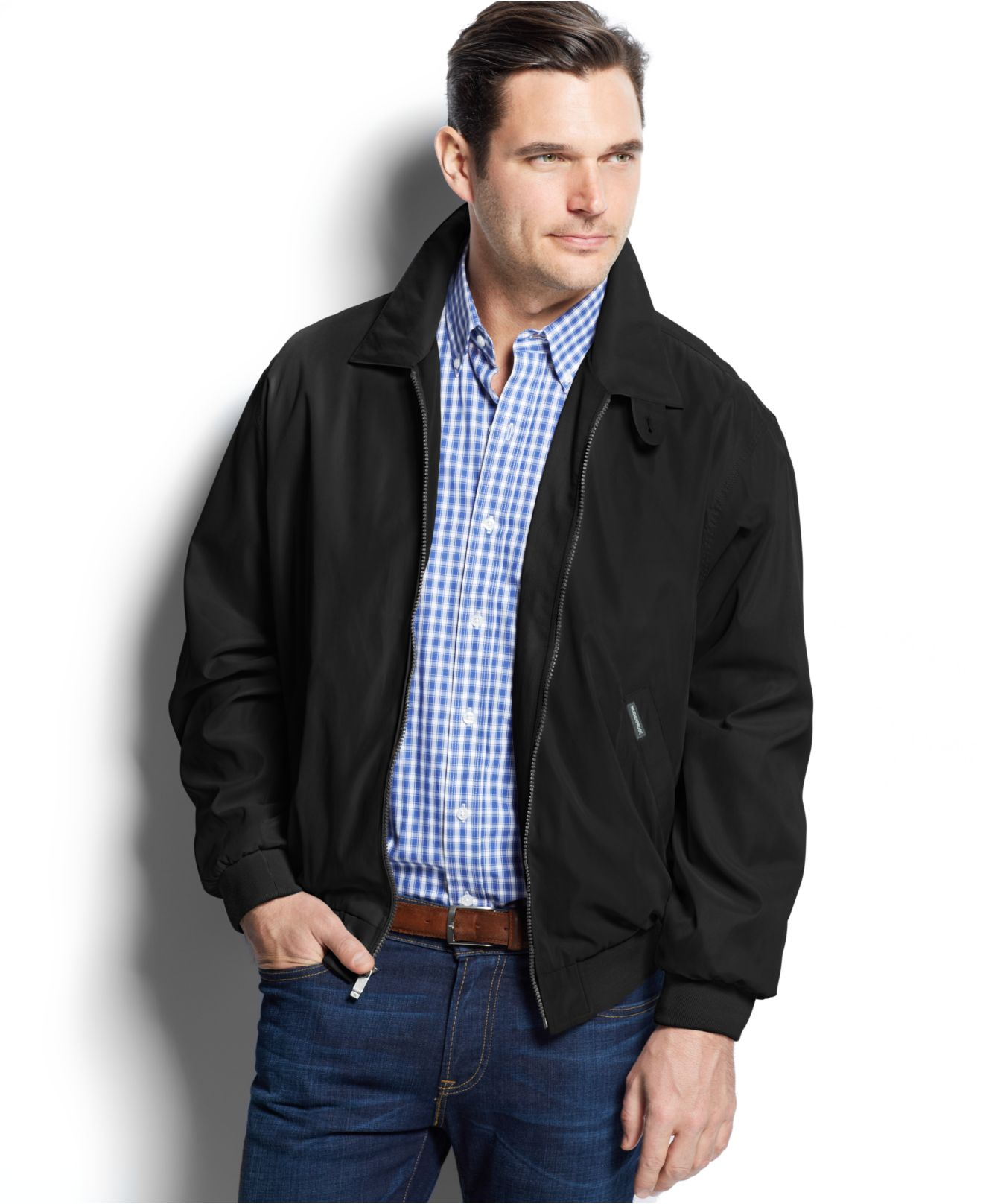 Weatherproof Lightweight Bomber Jacket in Black for Men | Lyst