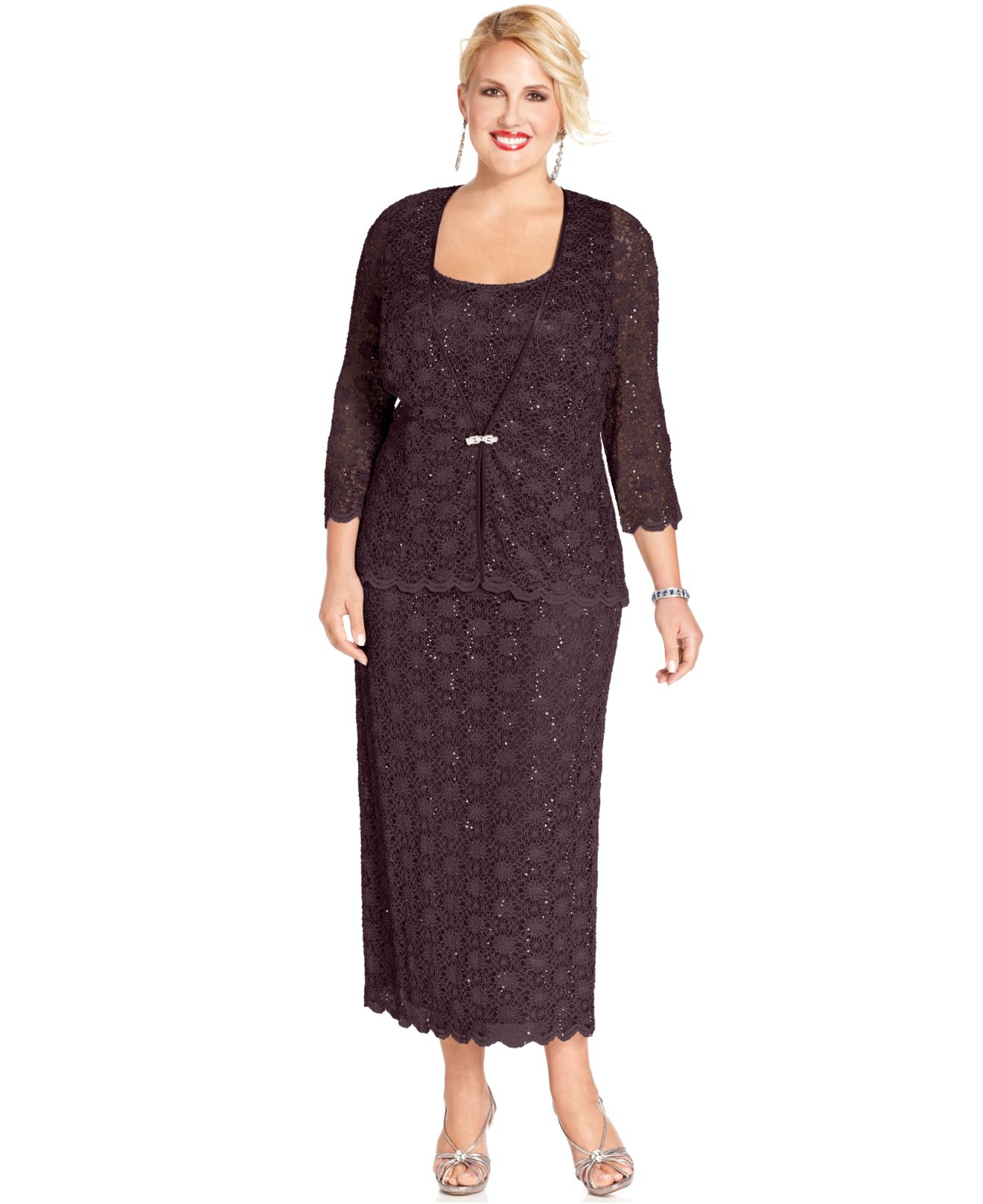a64a7b6036b4f5 Lyst - R   M Richards Plus Size Dress And Jacket