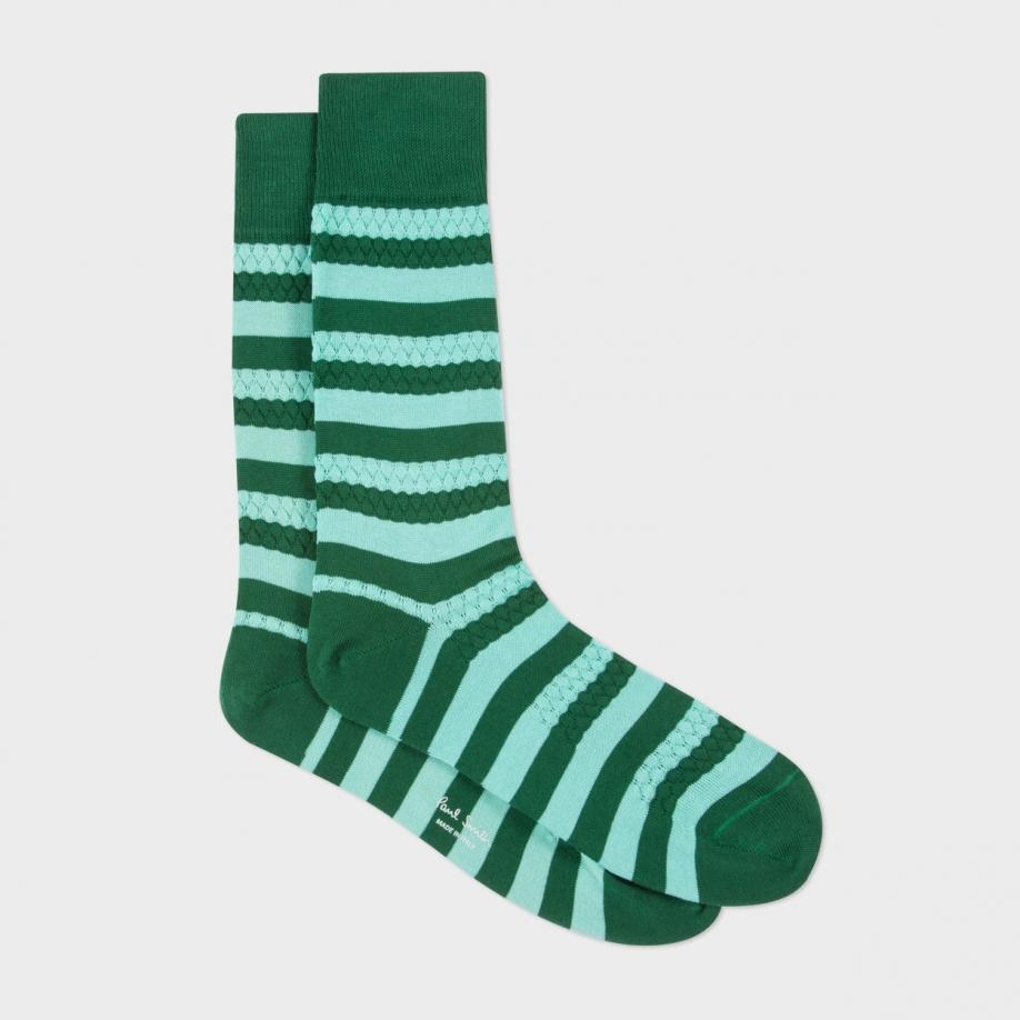 Lyst Paul Smith Men S Dark Green And Mint Green Stripe