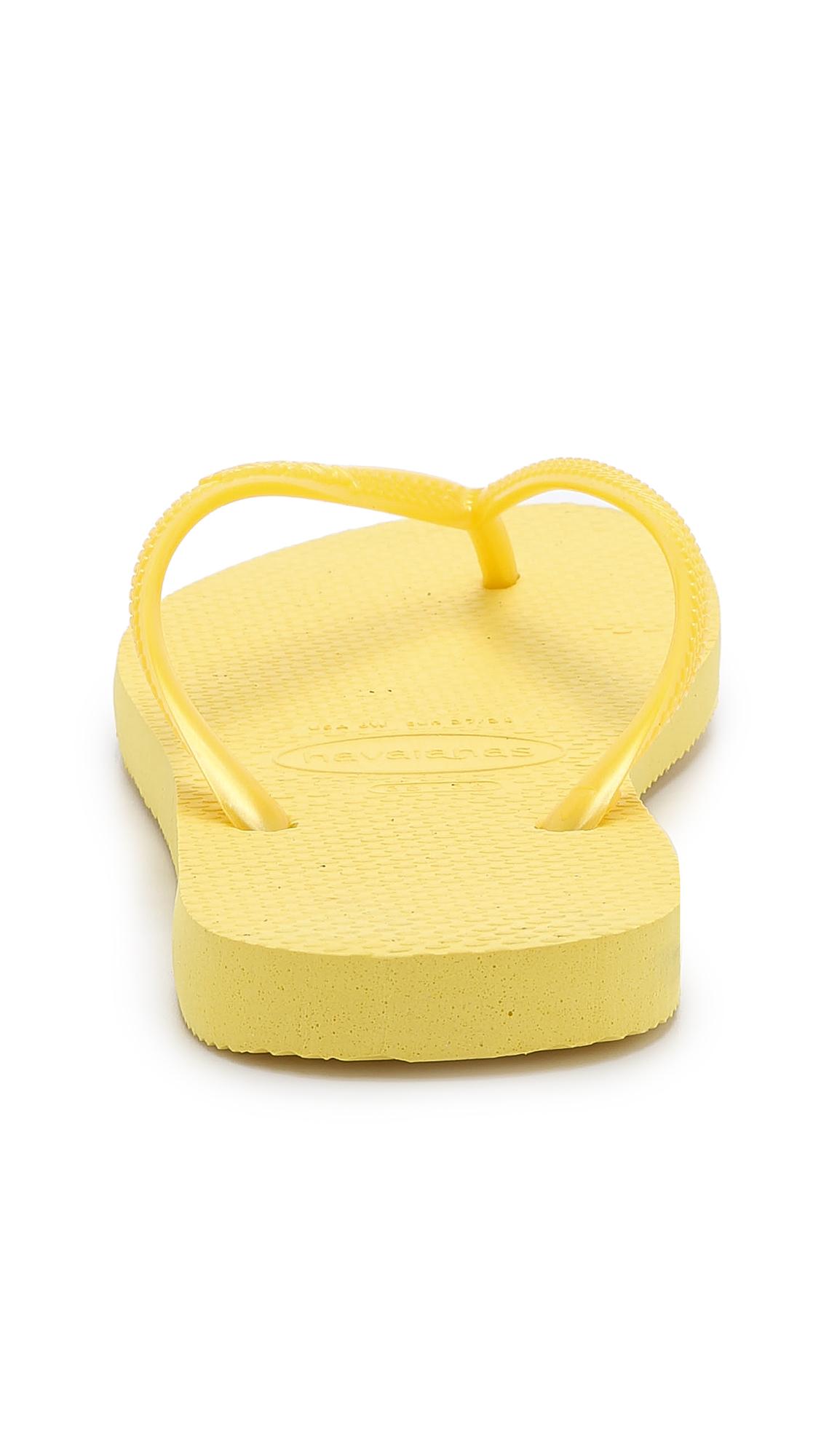 Lyst - Havaianas Slim Flip Flops - Light Pink In Yellow-4293