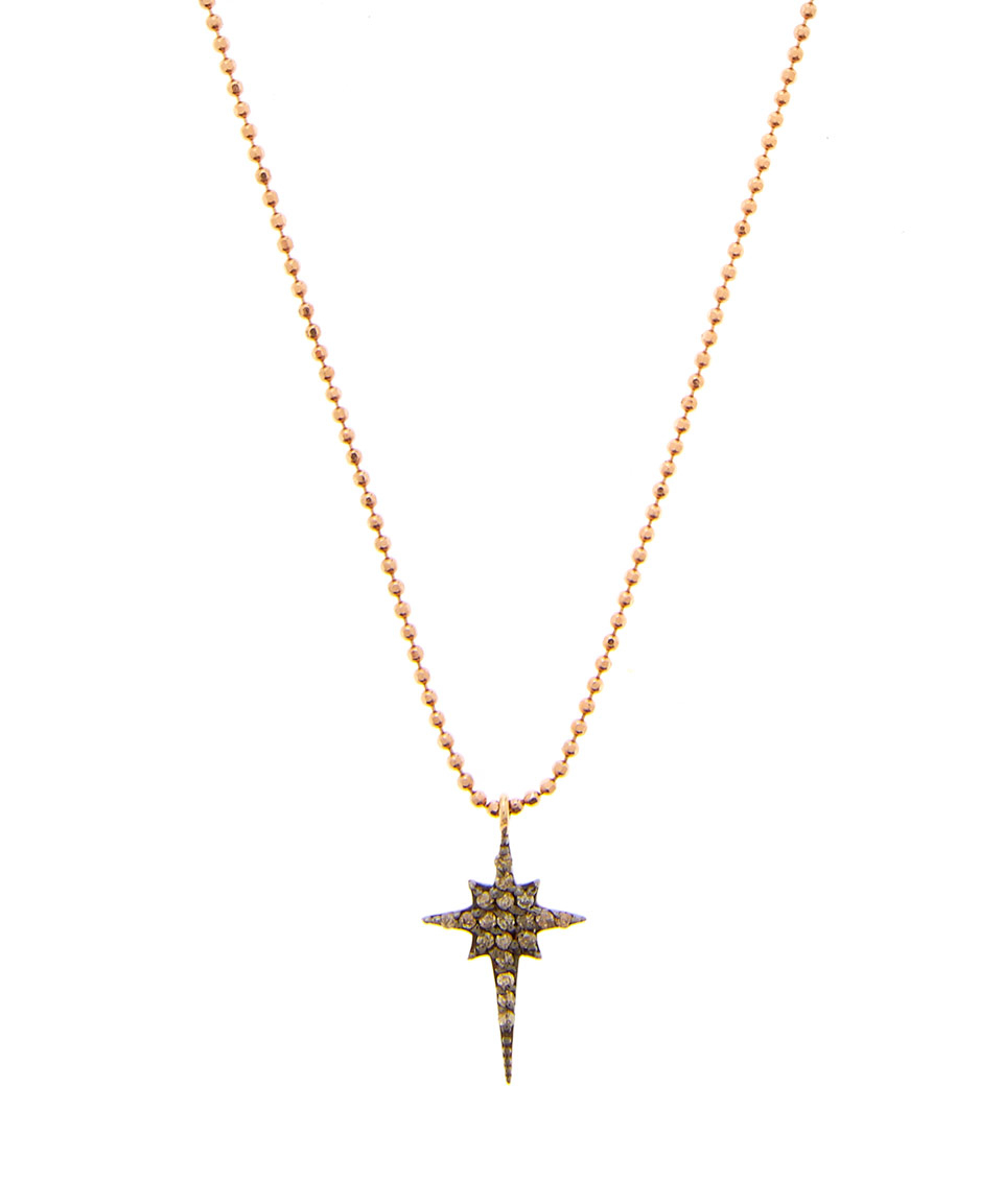 Lyst - Kismet By Milka Small Gold Champagne Diamonds Star Necklace ...