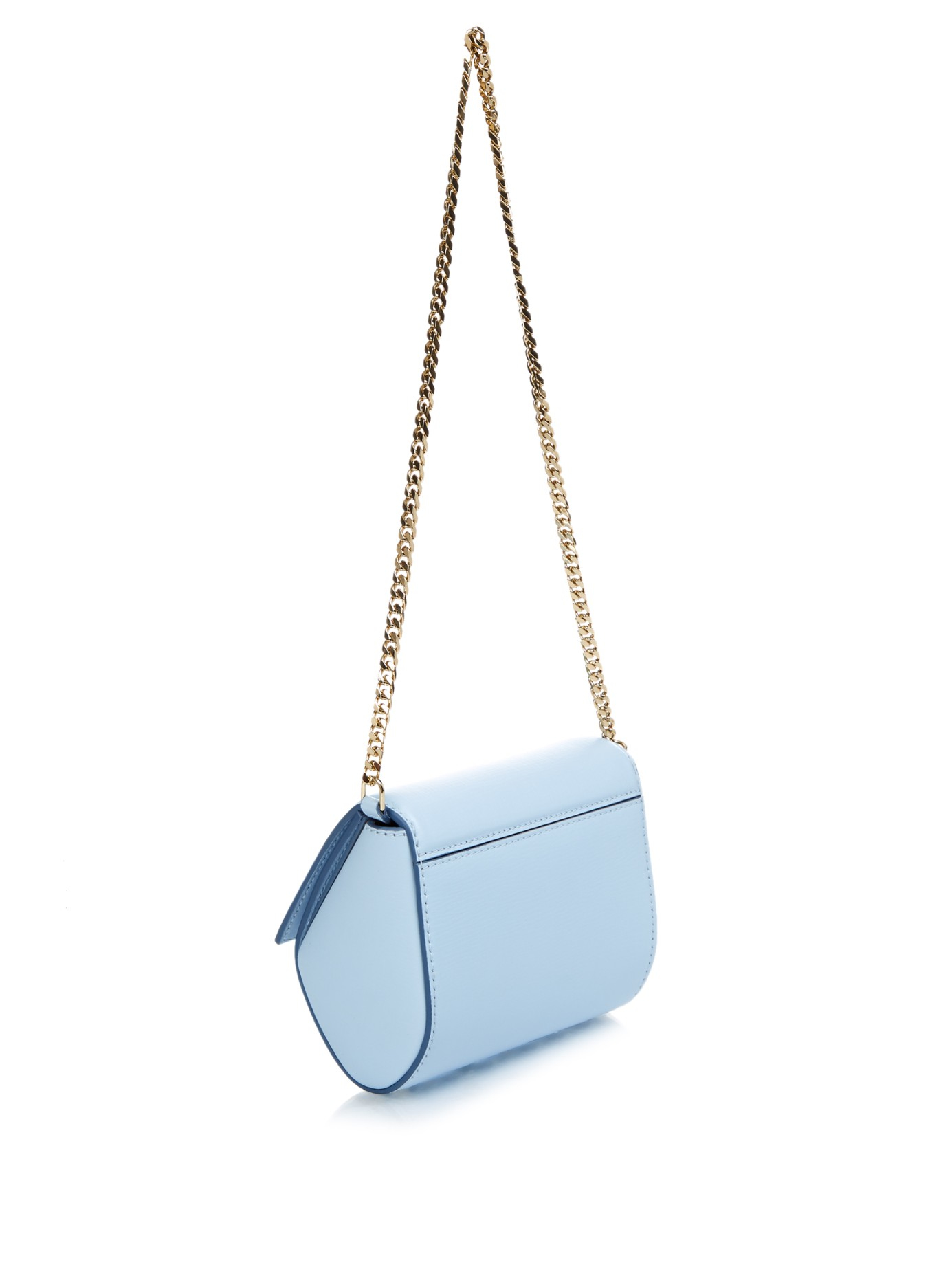 Lyst - Givenchy Pandora Box Leather Cross-Body Bag in Blue 4498357a25363