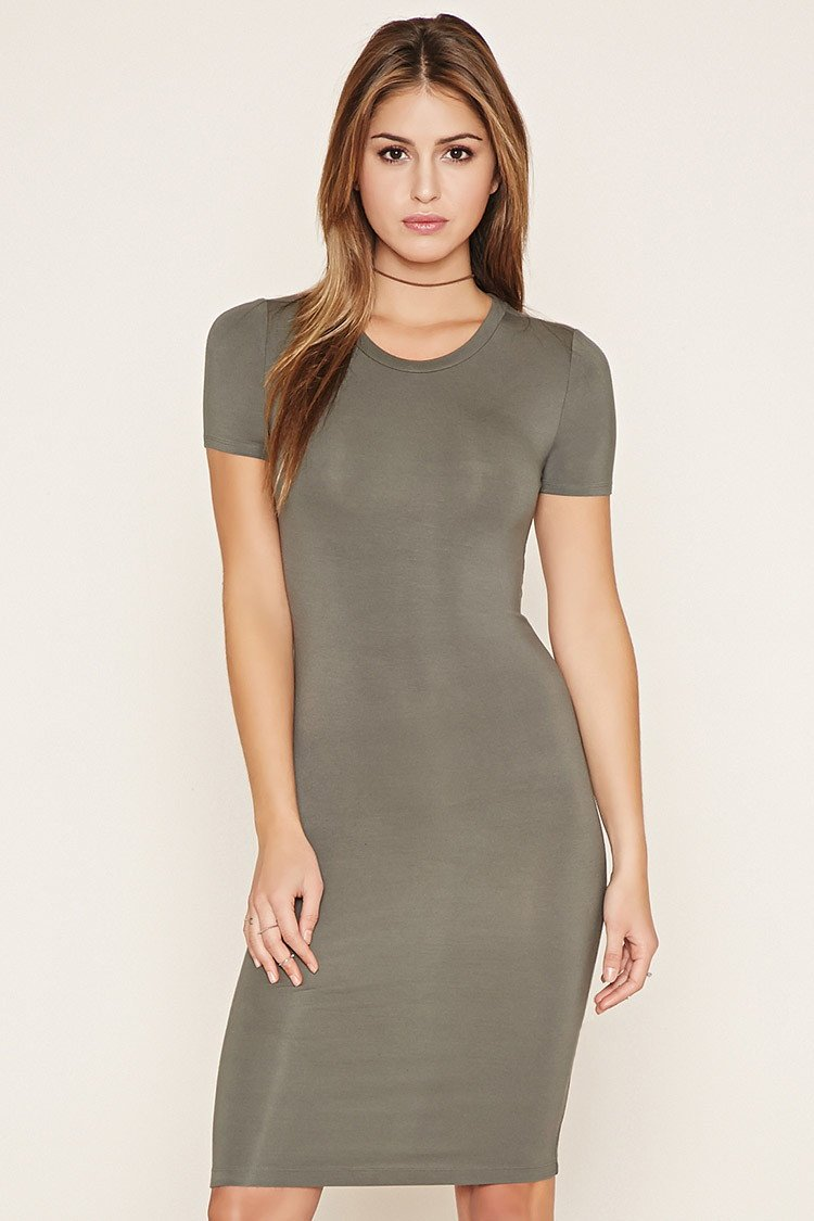 85032d22751e Lyst - Forever 21 Bodycon T-shirt Dress in Gray