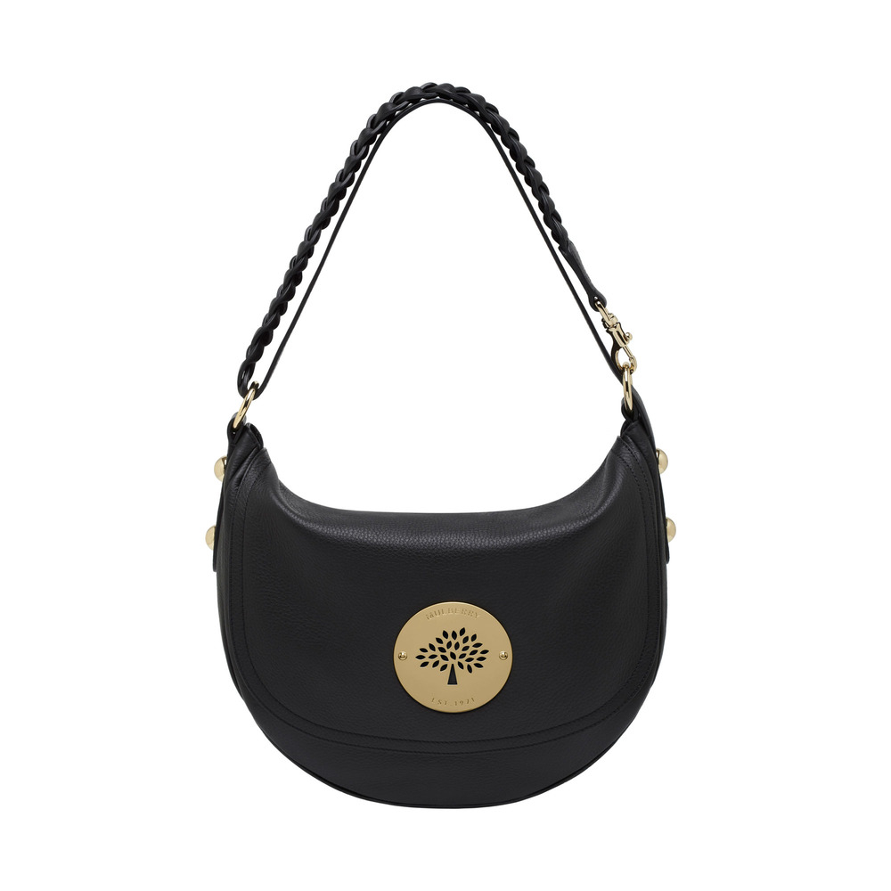 ... leather tote d07d0 5ad44  spain mulberry daria satchel in black lyst  6f3be aa603 3b80580ae58a5