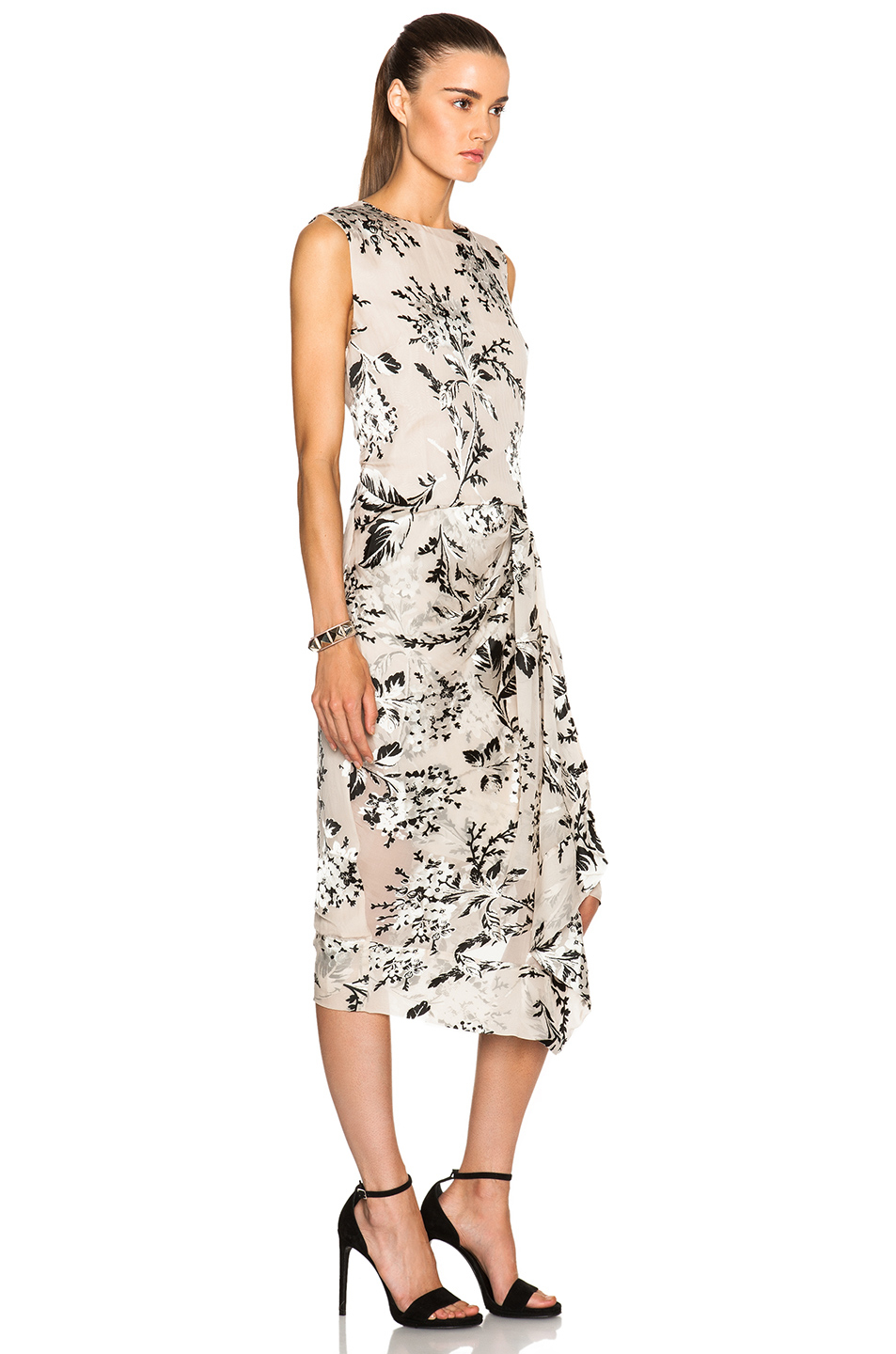 Zimmermann Fortune Burnout Dress In Floral Lyst