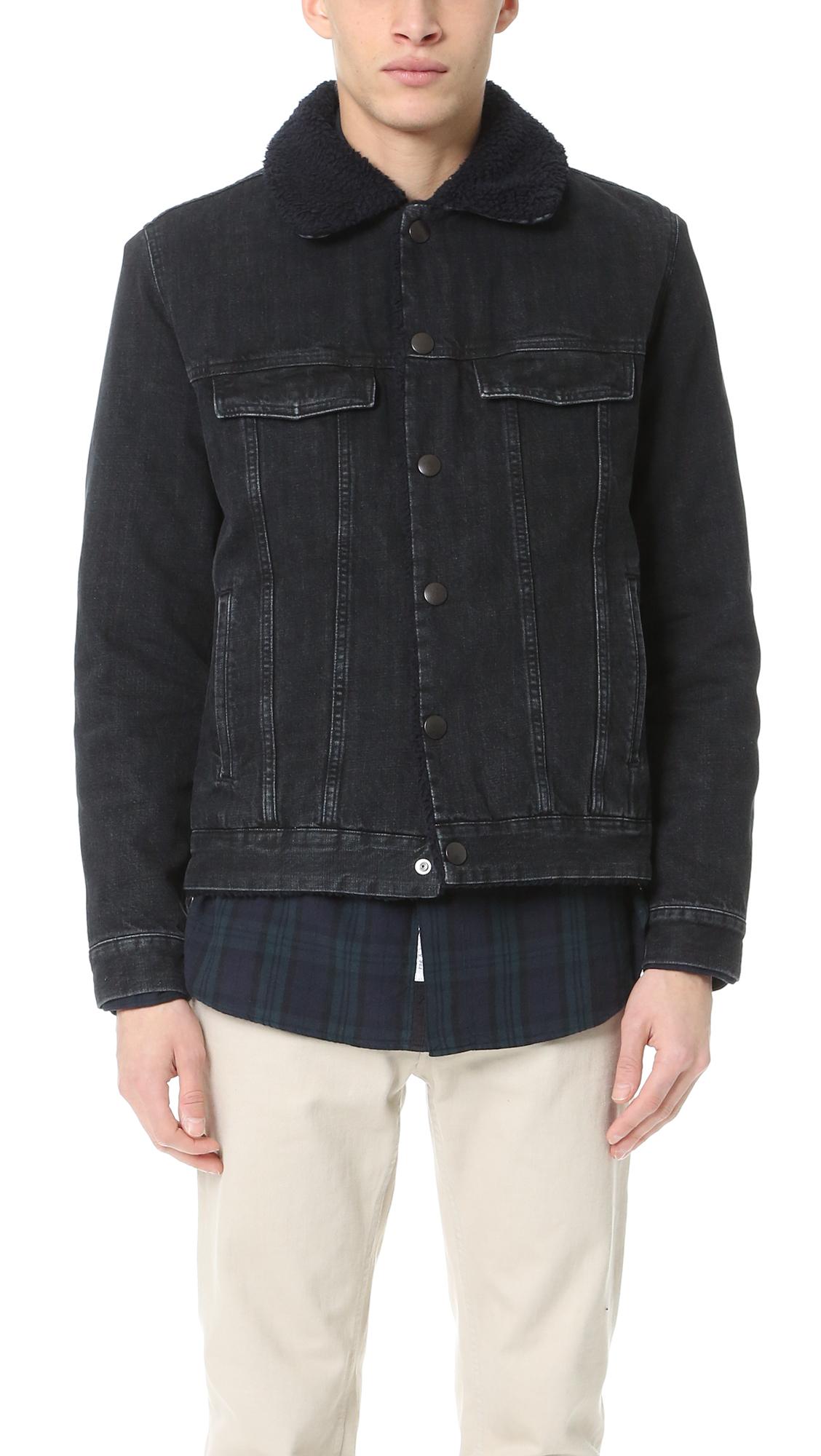 A.P.C. Barry Denim Jacket in Black for Men - Lyst c31dca251c9a