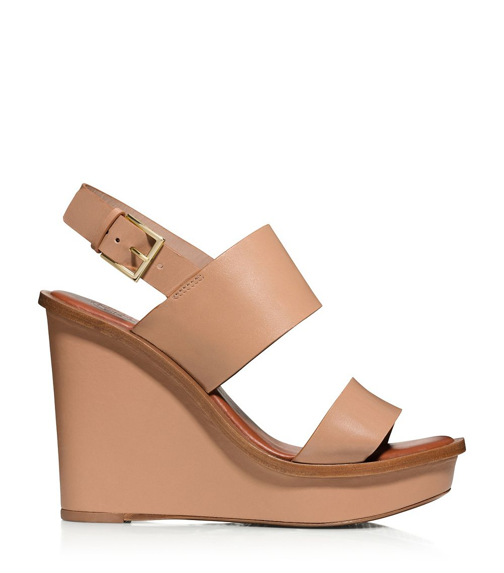 eb01fed2ef3a Lyst - Tory Burch Lexington Wedge in Natural