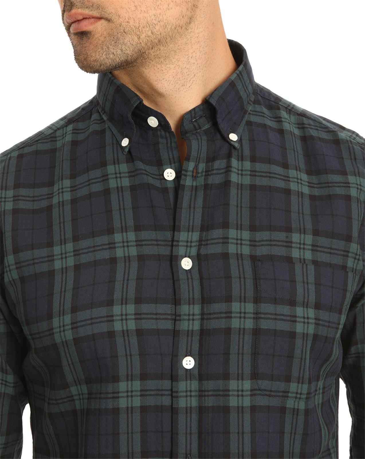 Green tartan shirt mens artee shirt for Blue and green tartan shirt