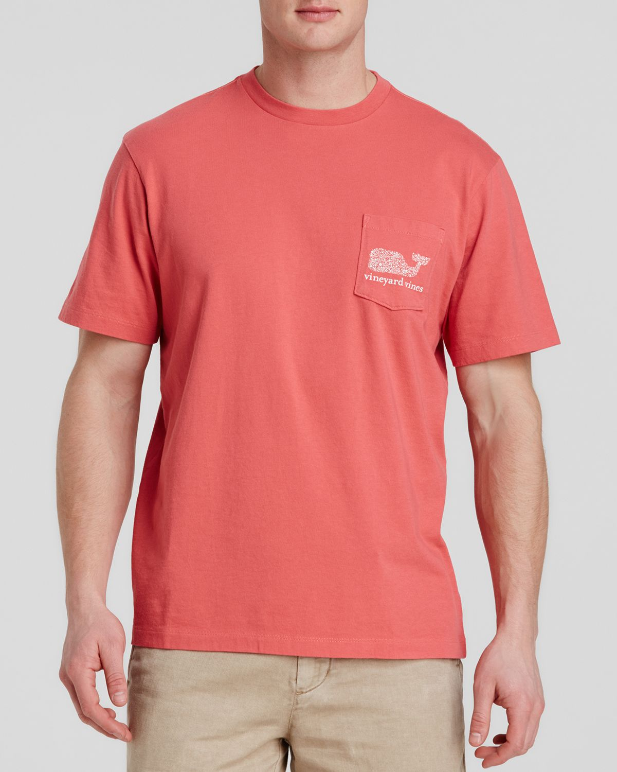 bb190347 Vineyard Vines Graphic Fish Dots Whale Pocket Tee in Red for Men - Lyst