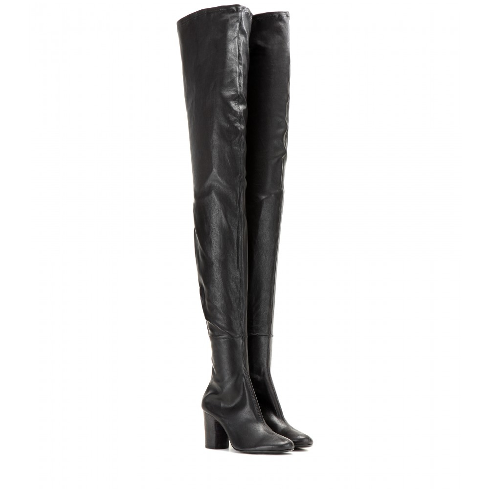 Haider ackermann Thigh-high Leather Boots in Black | Lyst