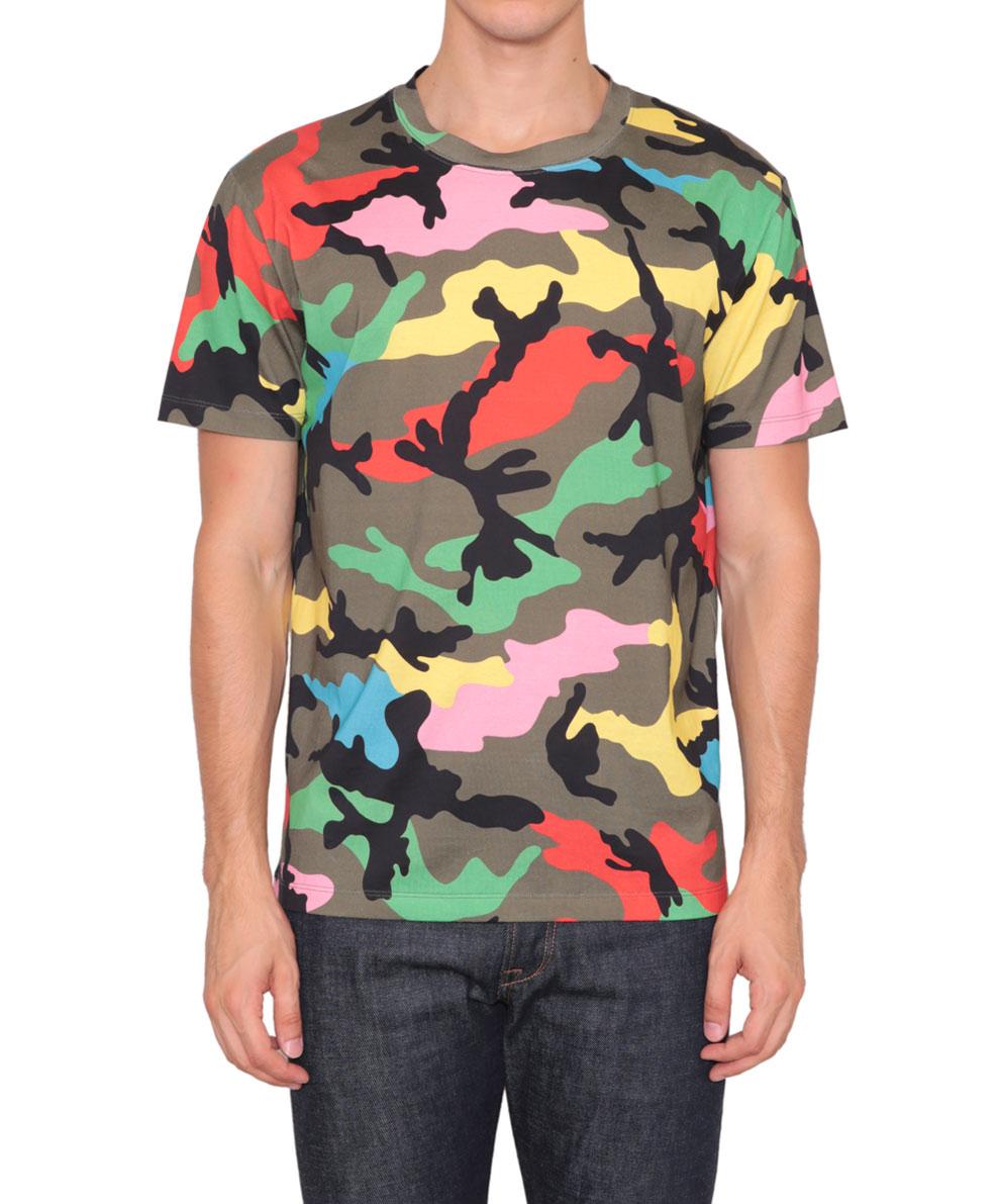 Lyst Valentino Camouflage Print Cotton Jersey T Shirt