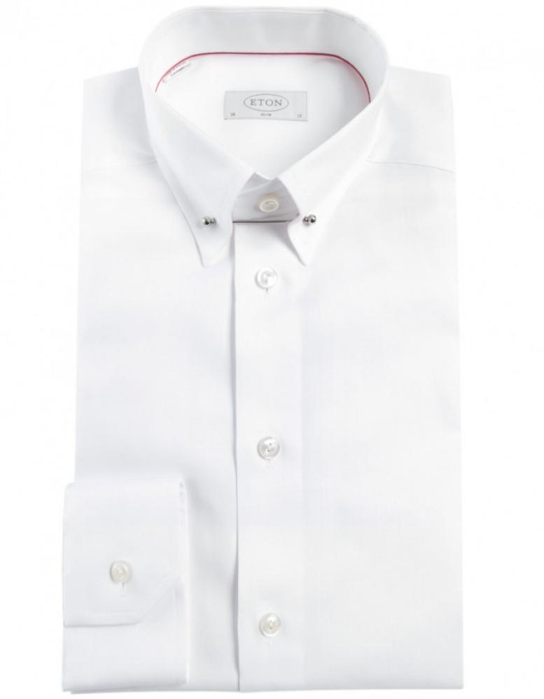 Eton Of Sweden Slim Fit Collar Bar Shirt In White For Men