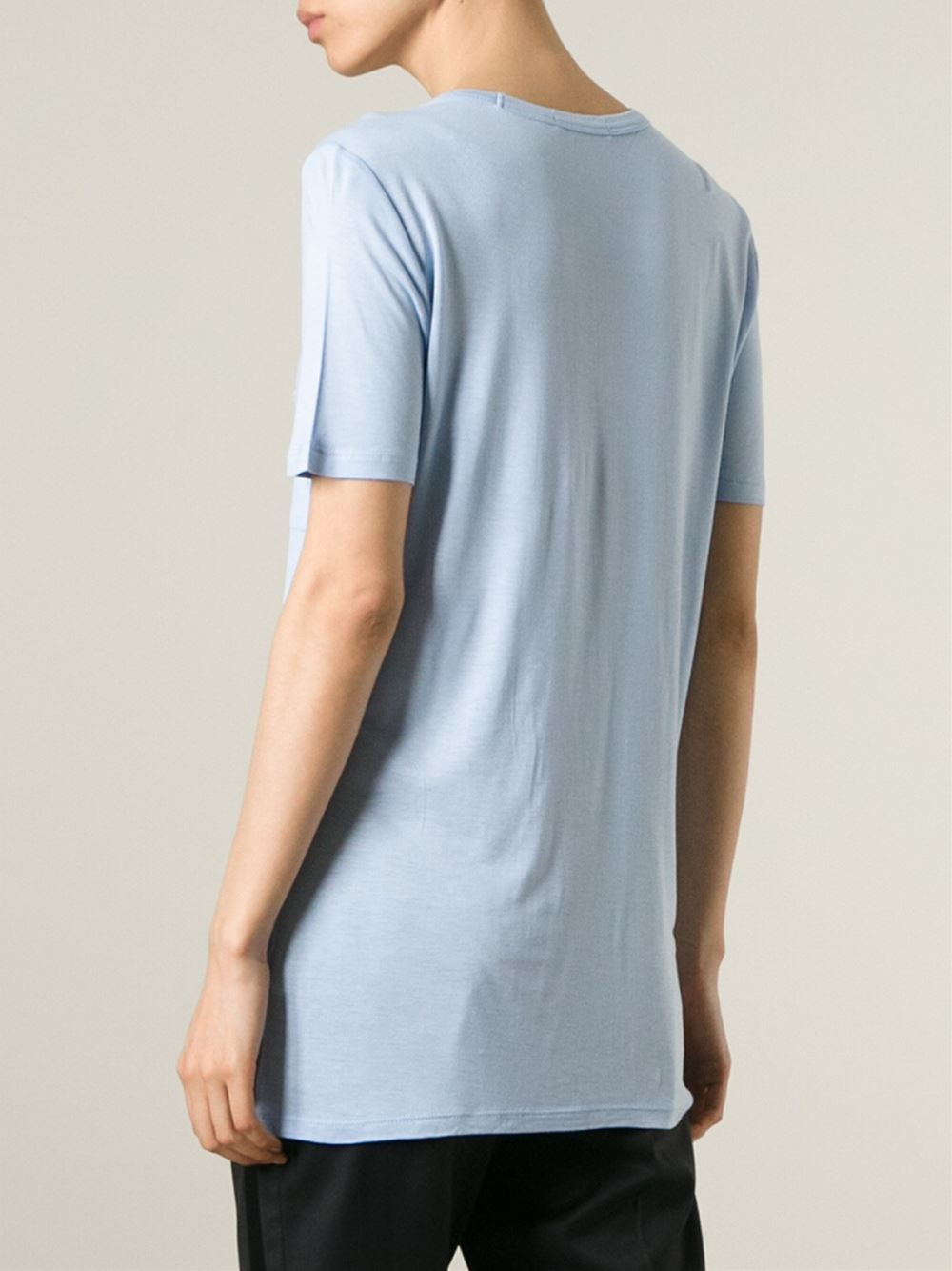 t by alexander wang scoop neck t shirt in blue lyst. Black Bedroom Furniture Sets. Home Design Ideas