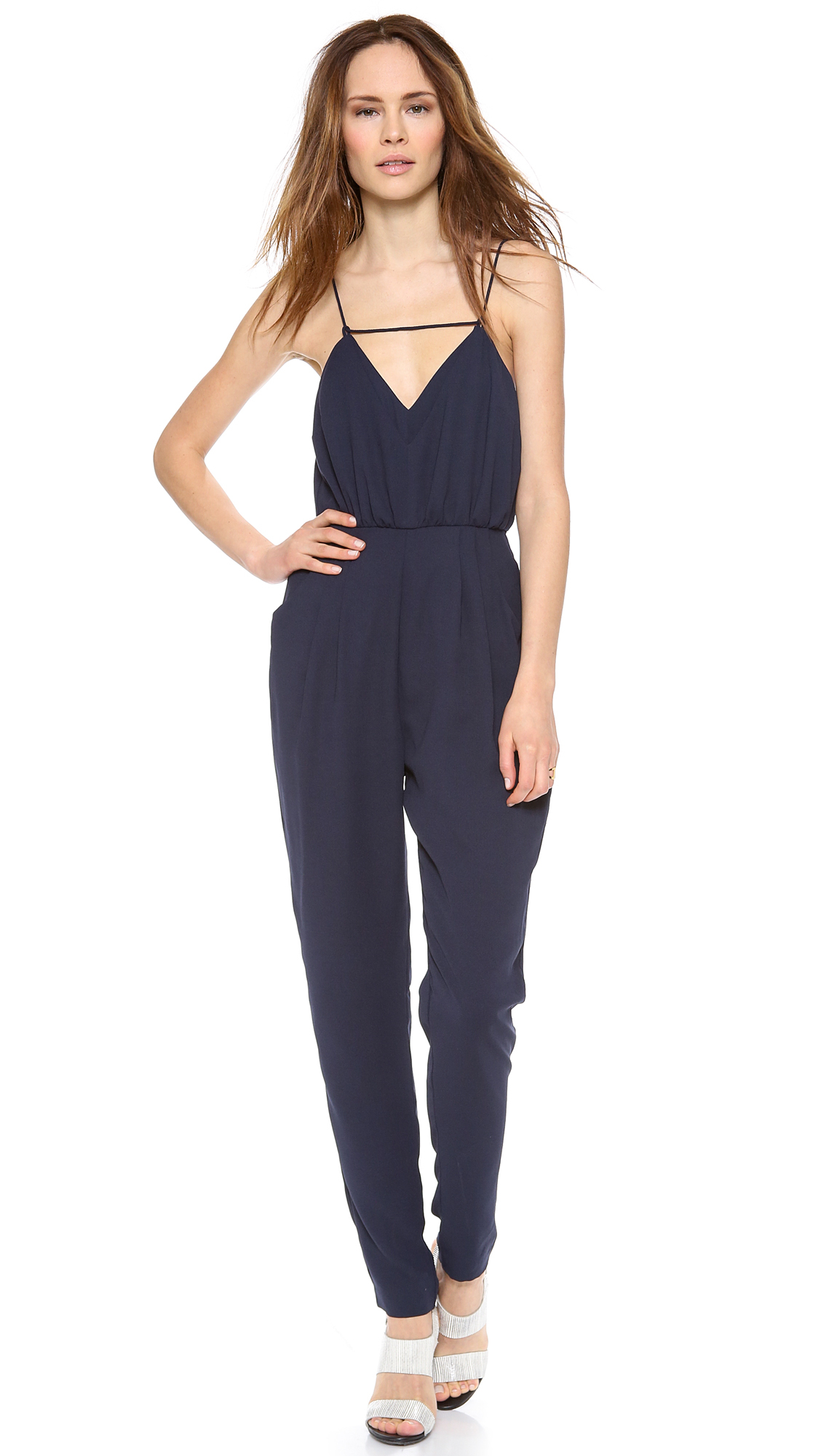 ff0b75f3ff61 Lyst - Finders Keepers The Someday Jumpsuit - Dark Navy in Blue