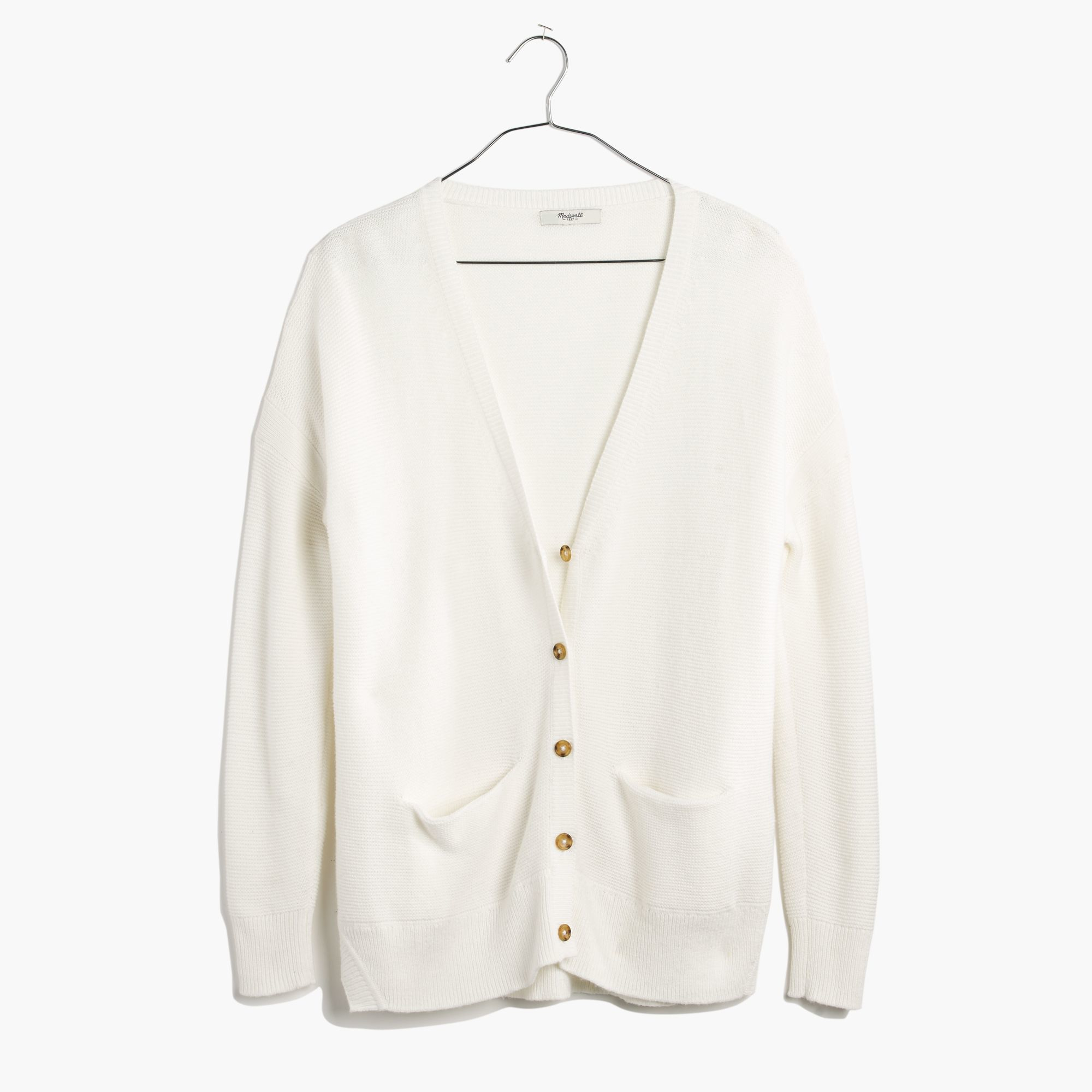 Madewell Textured Landscape Cardigan Sweater in White   Lyst
