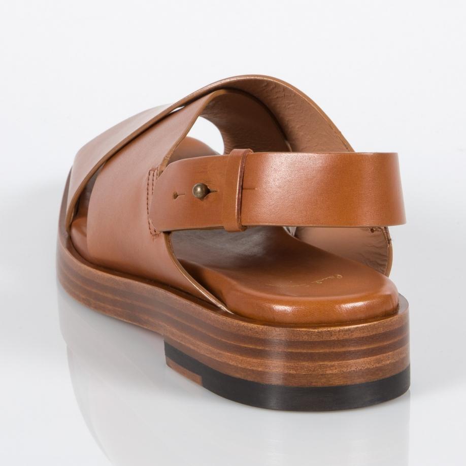 Lyst Paul Smith Women S Tan Leather Kody Sandals In Brown