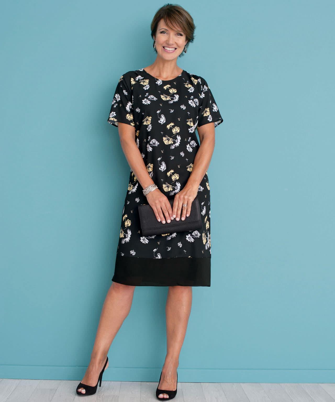 DAMART. Women s Floral Printed Shift Dress 04d51741f
