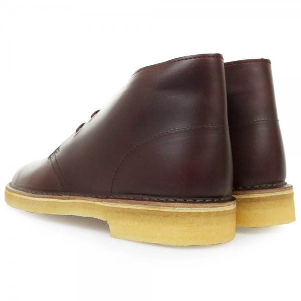 clarks desert boot wine leather boots for lyst
