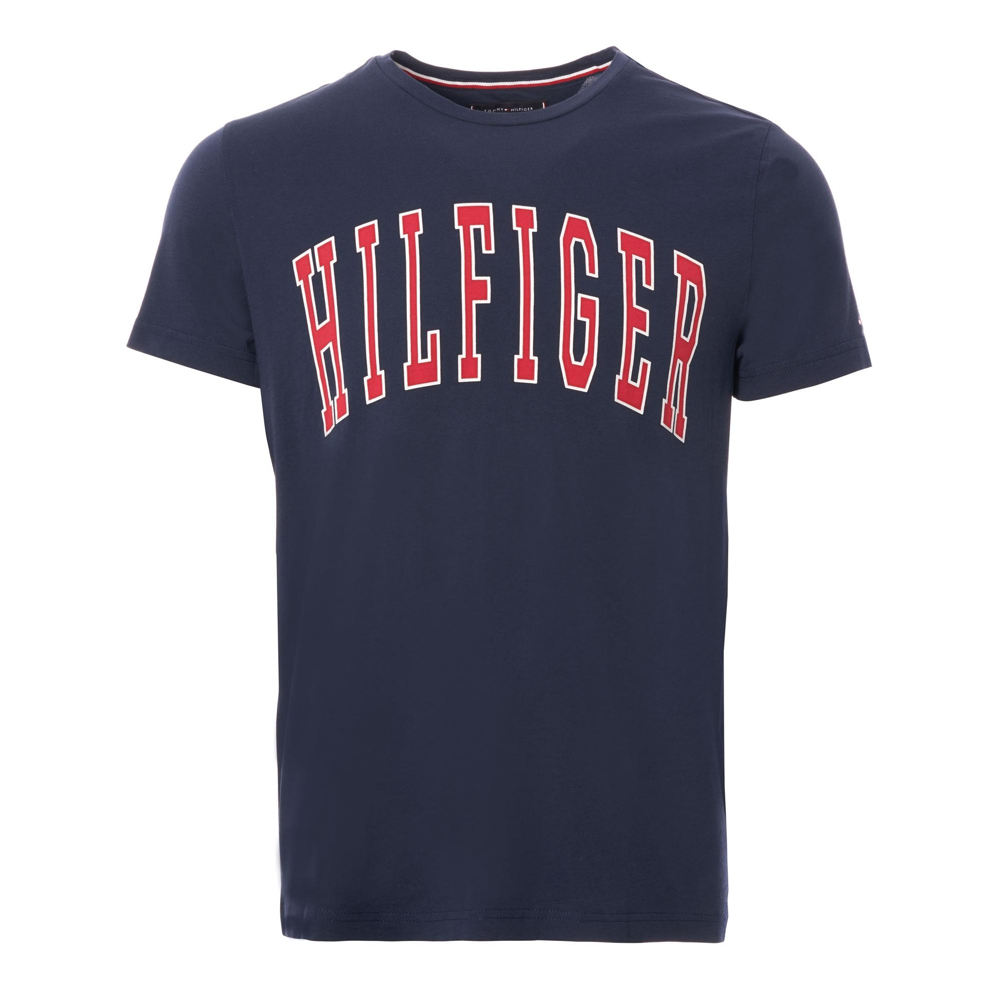 457e8a9b Lyst - Tommy Hilfiger College Logo T-shirt in Blue for Men