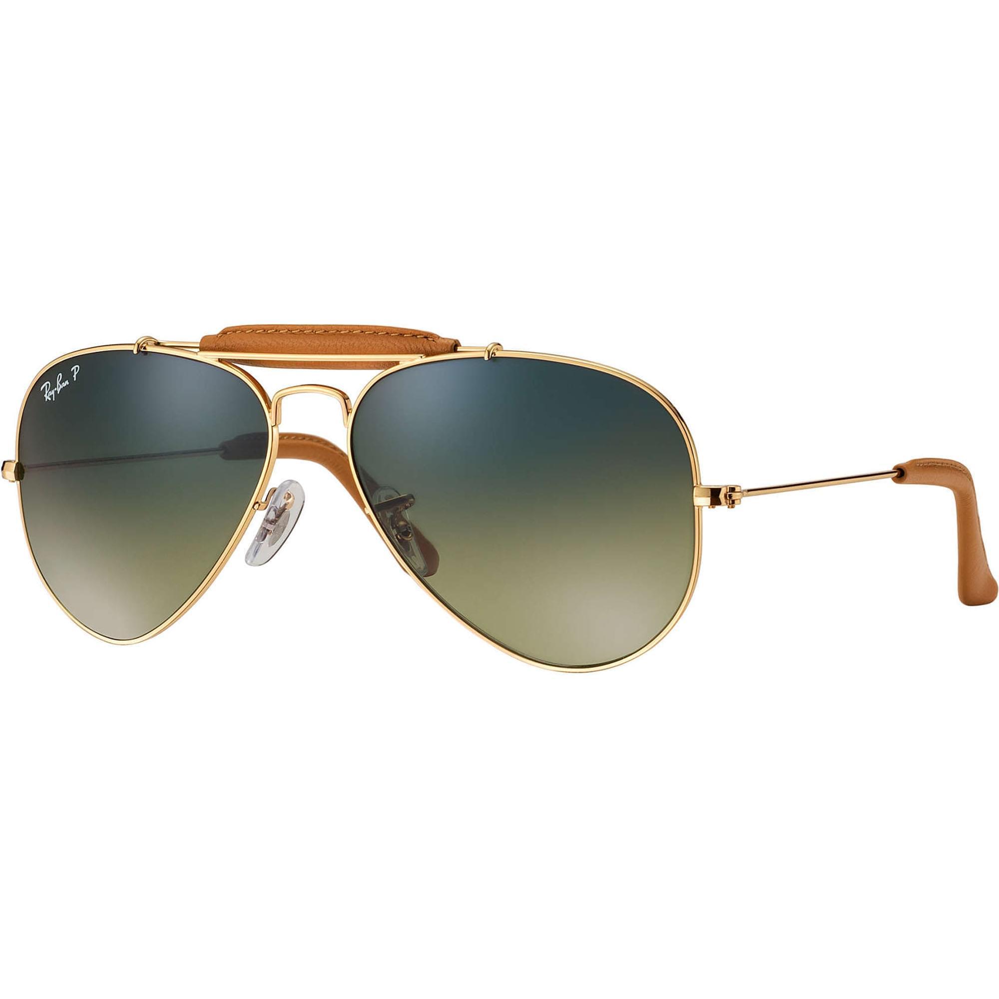 fc3f79991a Ray-Ban. Men s Outdoorsman Craft Aviator Sunglasses - Green Classic G-15  Lenses