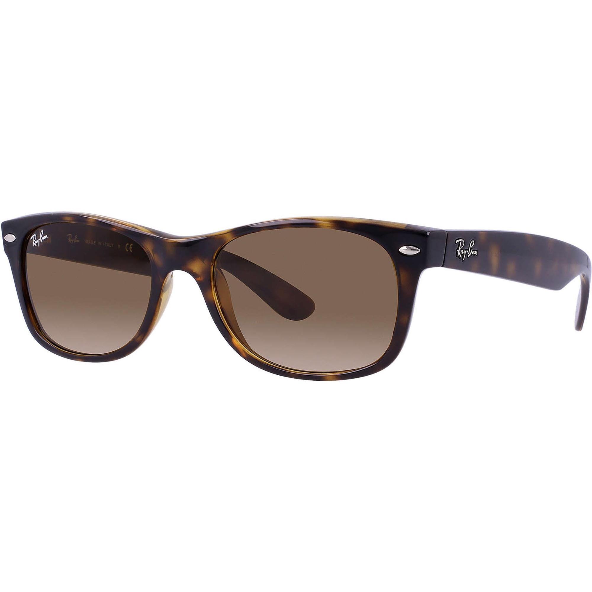 910304c19f ... where to buy ray ban. womens tortoise new wayfarer classic sunglasses  light brown gradient lenses