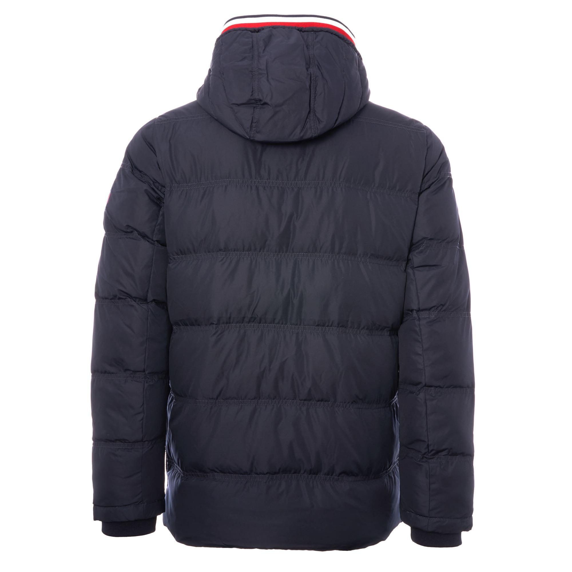 51982419 Lyst - Tommy Hilfiger Hooded Down Jacket - Sky Captain in Blue for Men