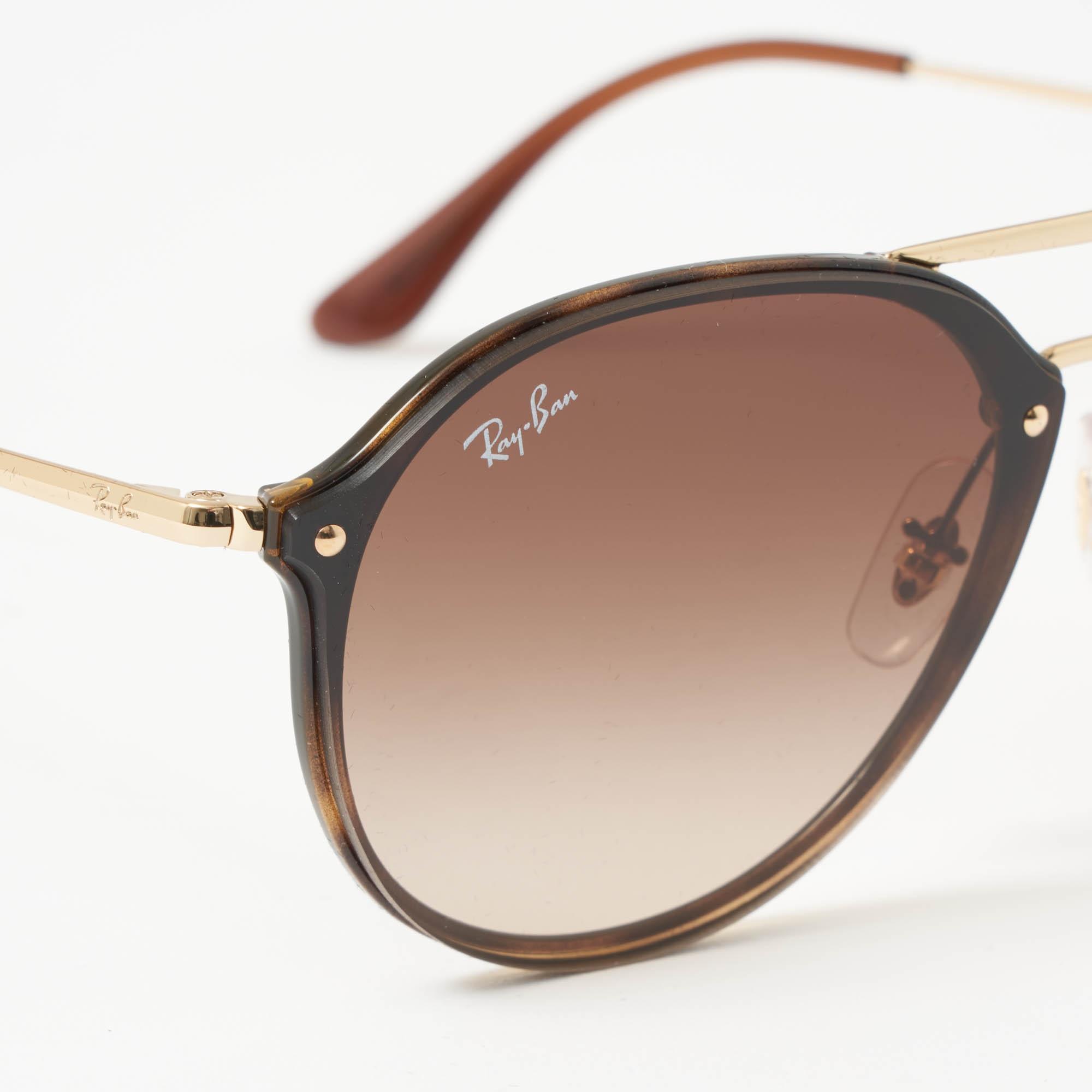 8493b7ca2c Ray-Ban - Blaze Double Bridge Sunglasses - Brown Gradient Lenses - Lyst.  View fullscreen