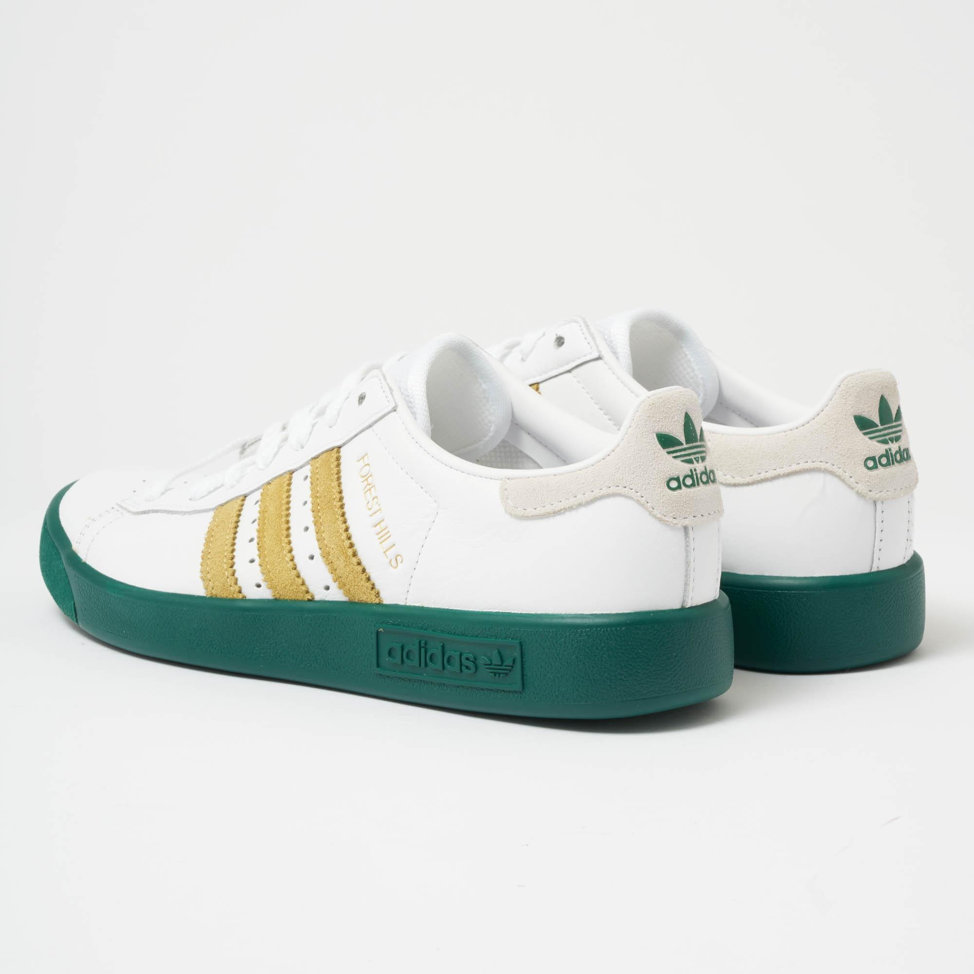 34a57f038e1e67 Lyst - adidas Originals Forest Hills White   Collegiate Green ...