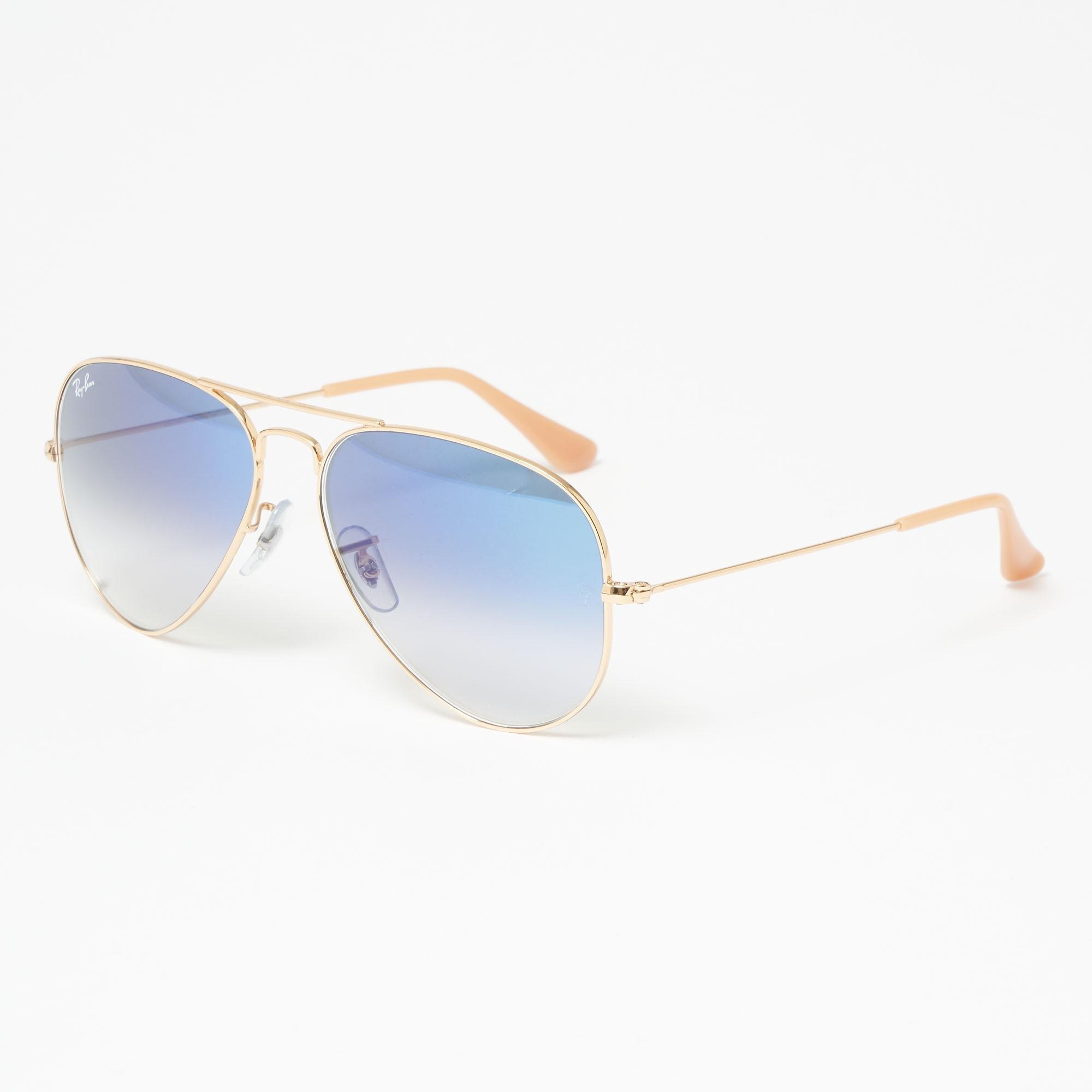 5044d91fbb Ray-Ban Aviator Gradient Sunglasses - Light Blue Gradient Lenses in ...