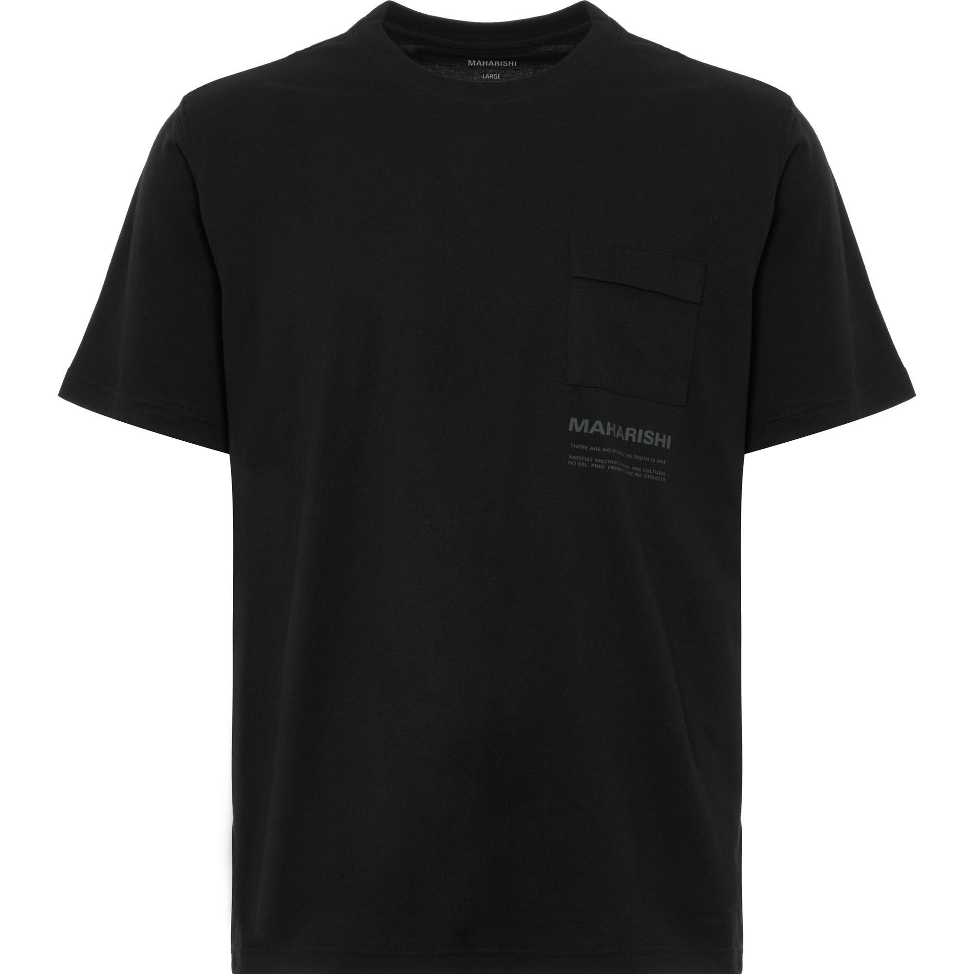 d7fb8da46a Maharishi Miltype Pocket Tee in Black for Men - Lyst