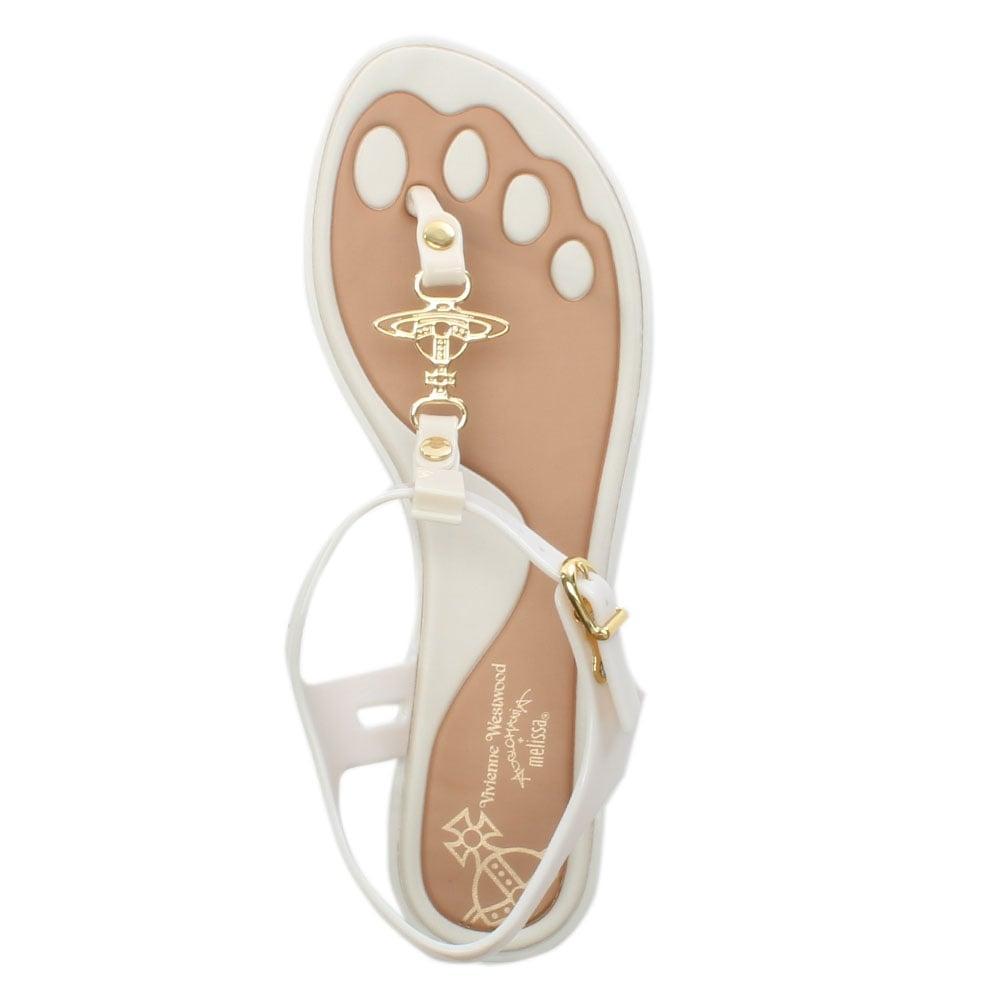 1eeb84fc5cb00f ... X Melissa Solar Orb Ivory Toe Post Sandals - Lyst. View fullscreen