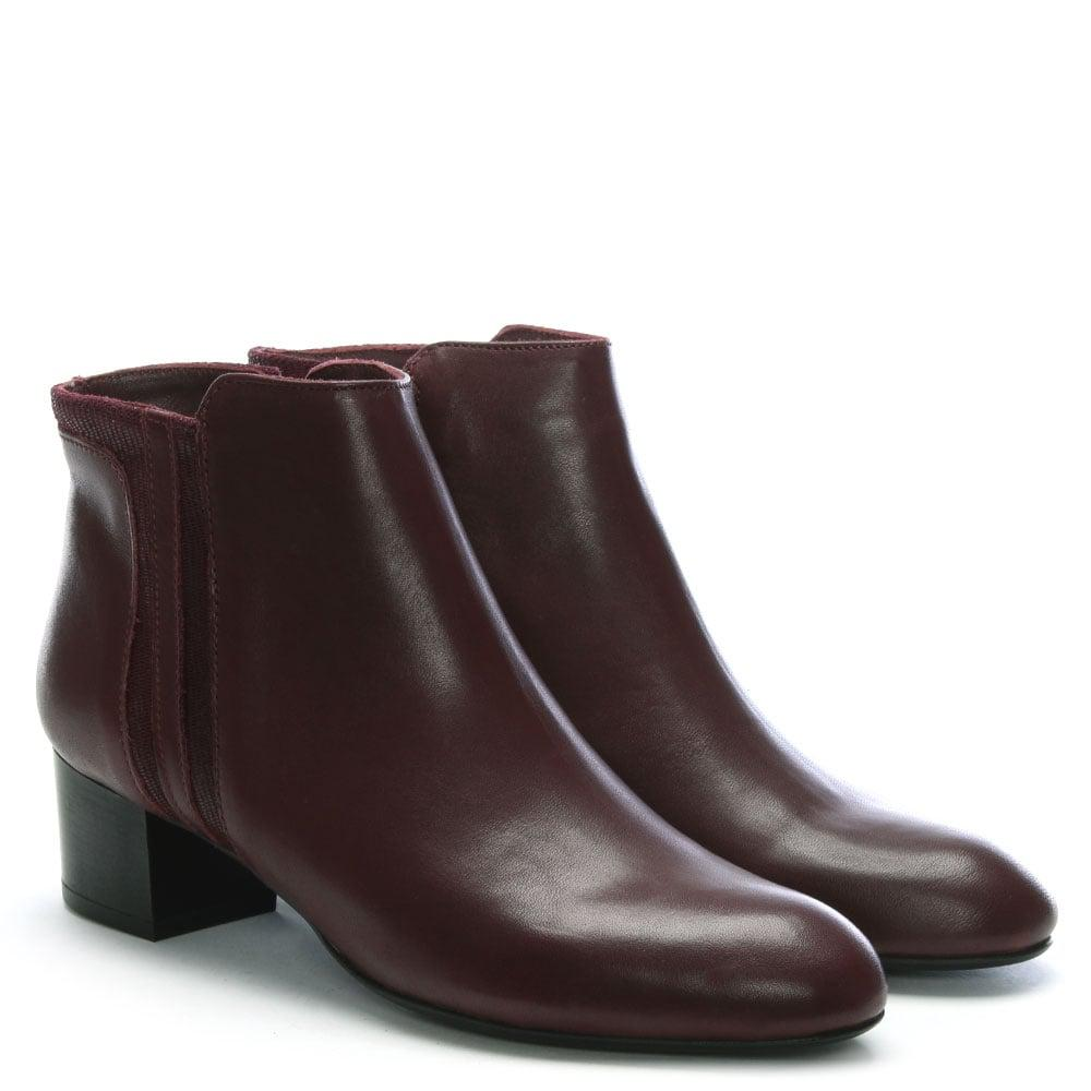 5a47c100a6a Daniel Footwear Burgundy Leather Reptile Insert Ankle Boots - Lyst