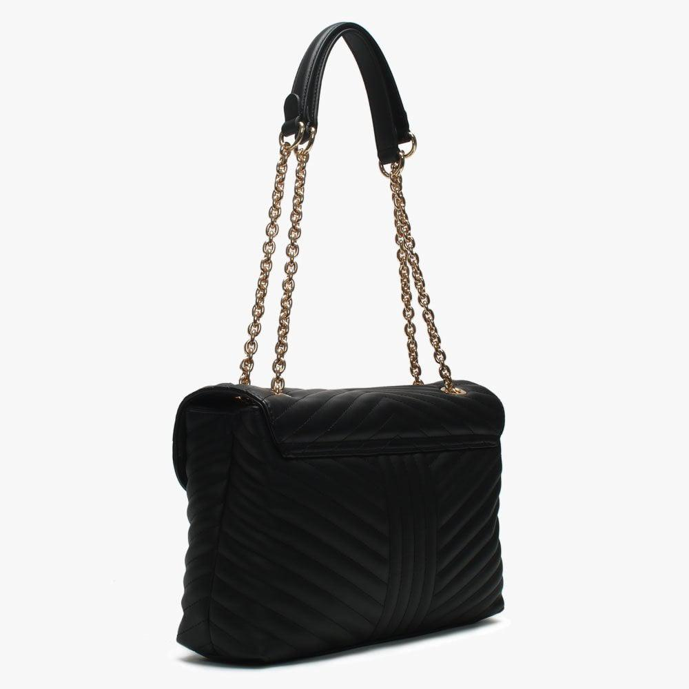 7b40604aef3a Valentino By Mario Valentino - Large Rapunzel Black Quilted Shoulder Bag -  Lyst. View fullscreen