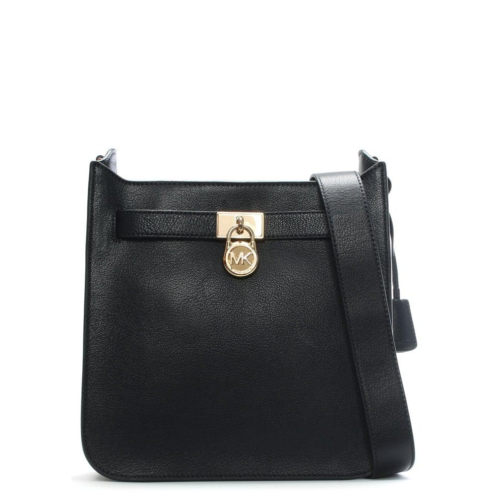 6c87cc2a62b77 Lyst - Michael Kors Hamilton Admiral Leather Messenger Bag
