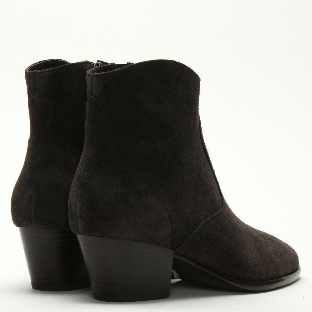 d039a1107e1 Ash Heidi Bis Africa Suede Western Ankle Boots in Brown - Lyst