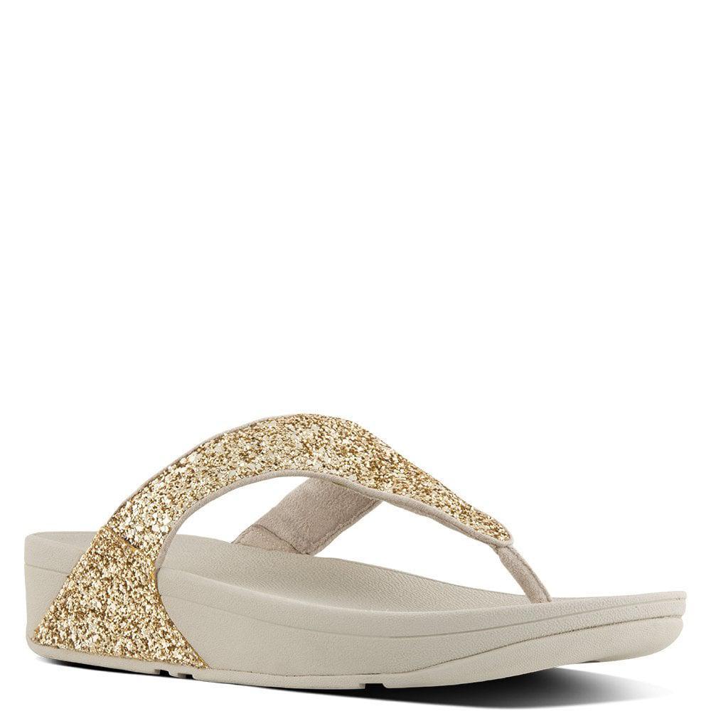 5bbe6776e35fe5 Lyst - Fitflop Glitterball Gold Metallic Toe Post Sandals in Metallic