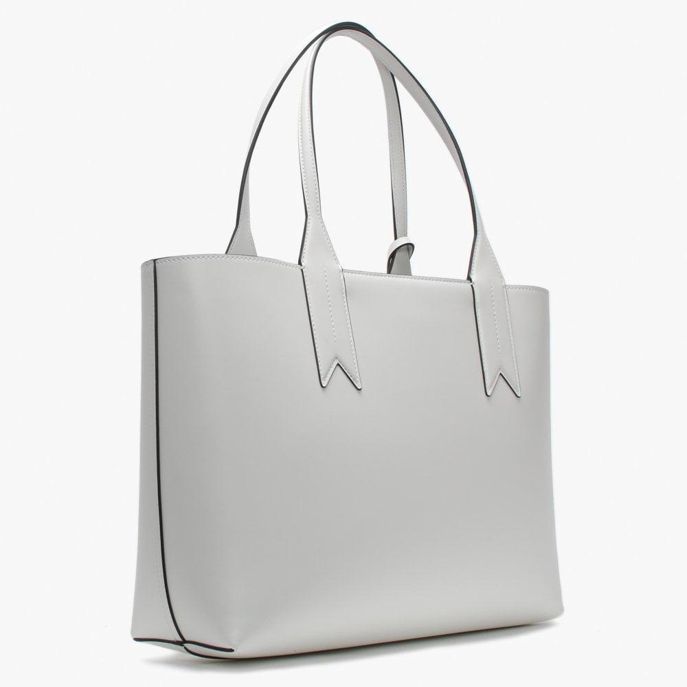 Emporio Armani - Perforated Logo Frida White Shopper Bag - Lyst. View  fullscreen 2714c33f52b17