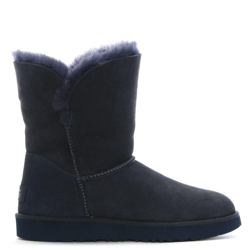 UGG. Women's Blue Classic Cuff Short Imperial Ankle Boots