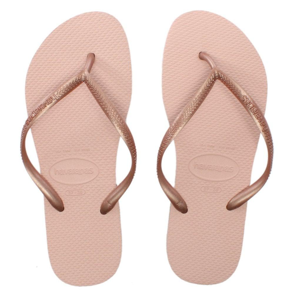 cd805e043 Havaianas - Pink Slim Ballet Rose Logo Flip Flops - Lyst. View fullscreen