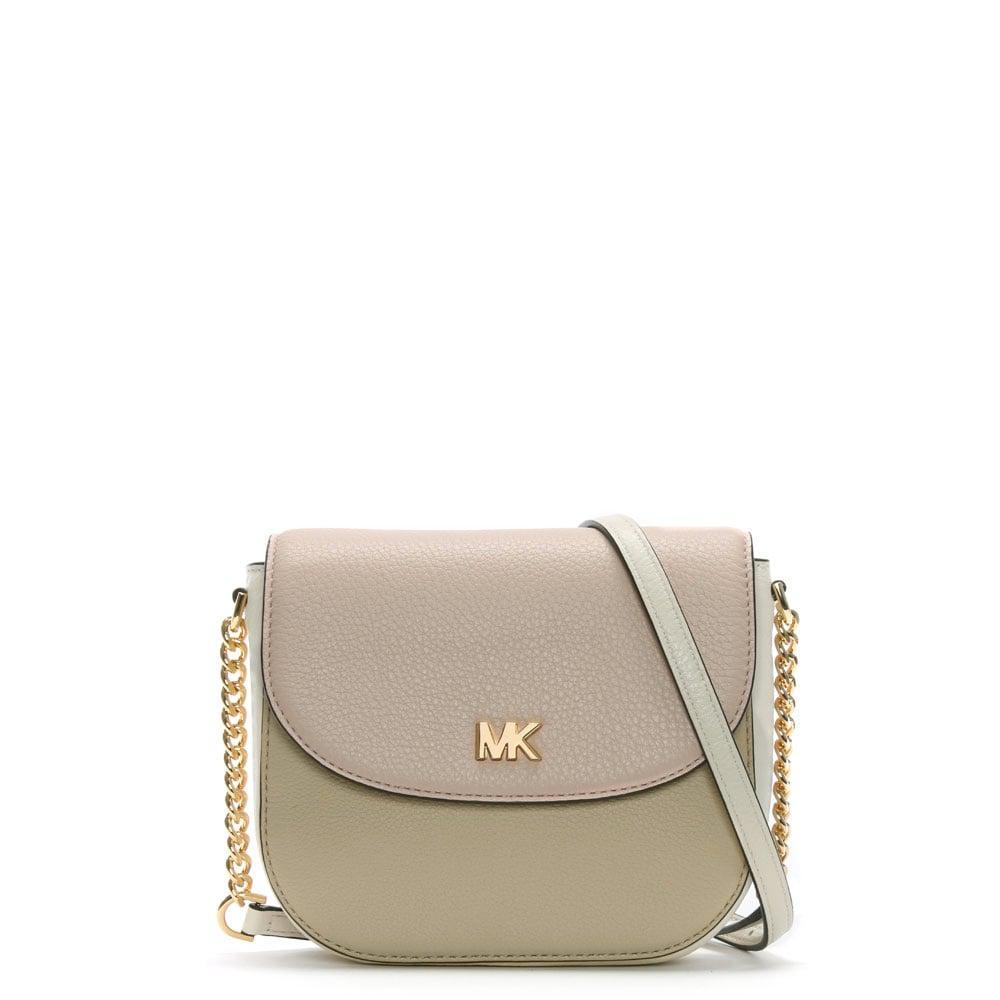 408db7b517181b Michael Kors Mott Half Dome Nude Leather Colour Block Cross-body Bag ...
