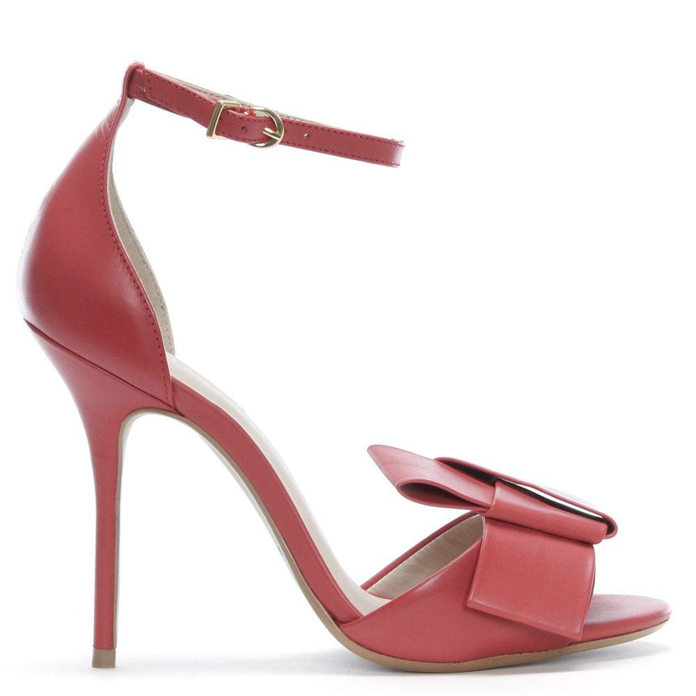 b880f0ff2703 Bronx Red Leather Knotted Sandals in Red - Lyst