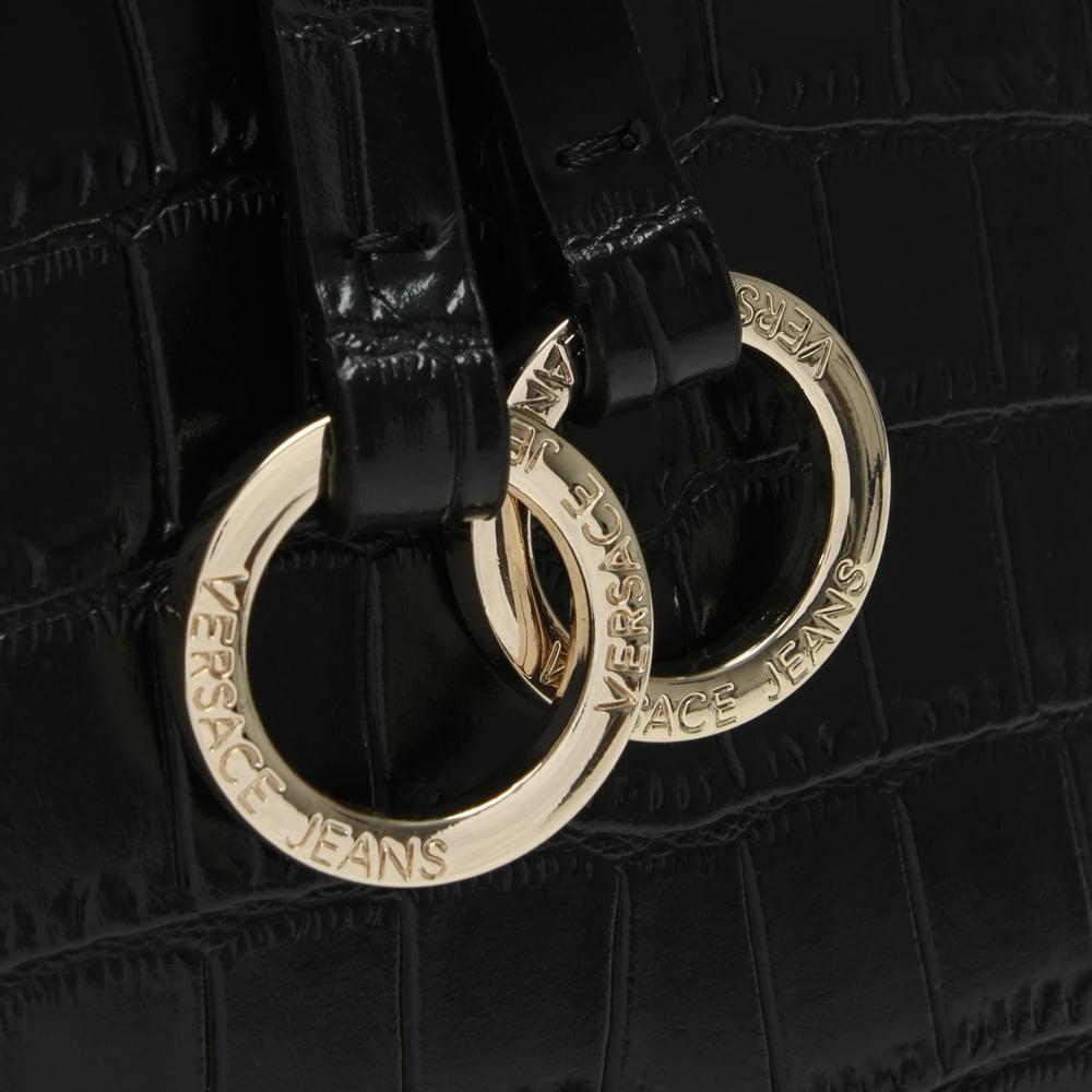 Versace Jeans Moc Croc Black Day Bag in Black - Lyst 11b7336b224c3
