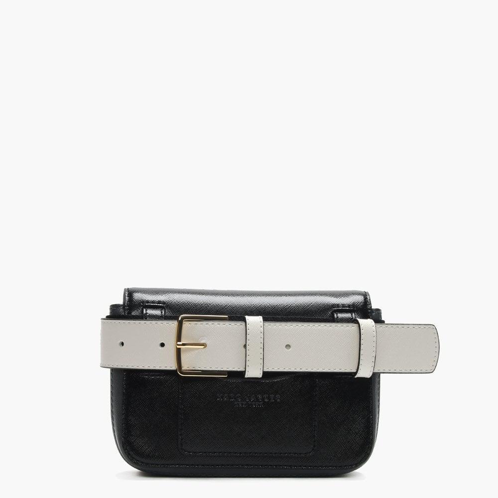 00507e7872b Marc Jacobs - Letter Hip Shot Black Multi Leather Bum Bag - Lyst. View  fullscreen