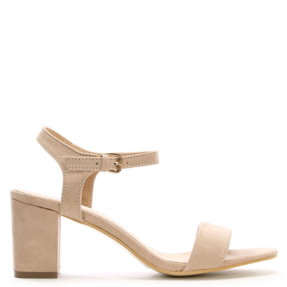Daniel footwear Amabel Beige Block Heel Sandal in Natural ...