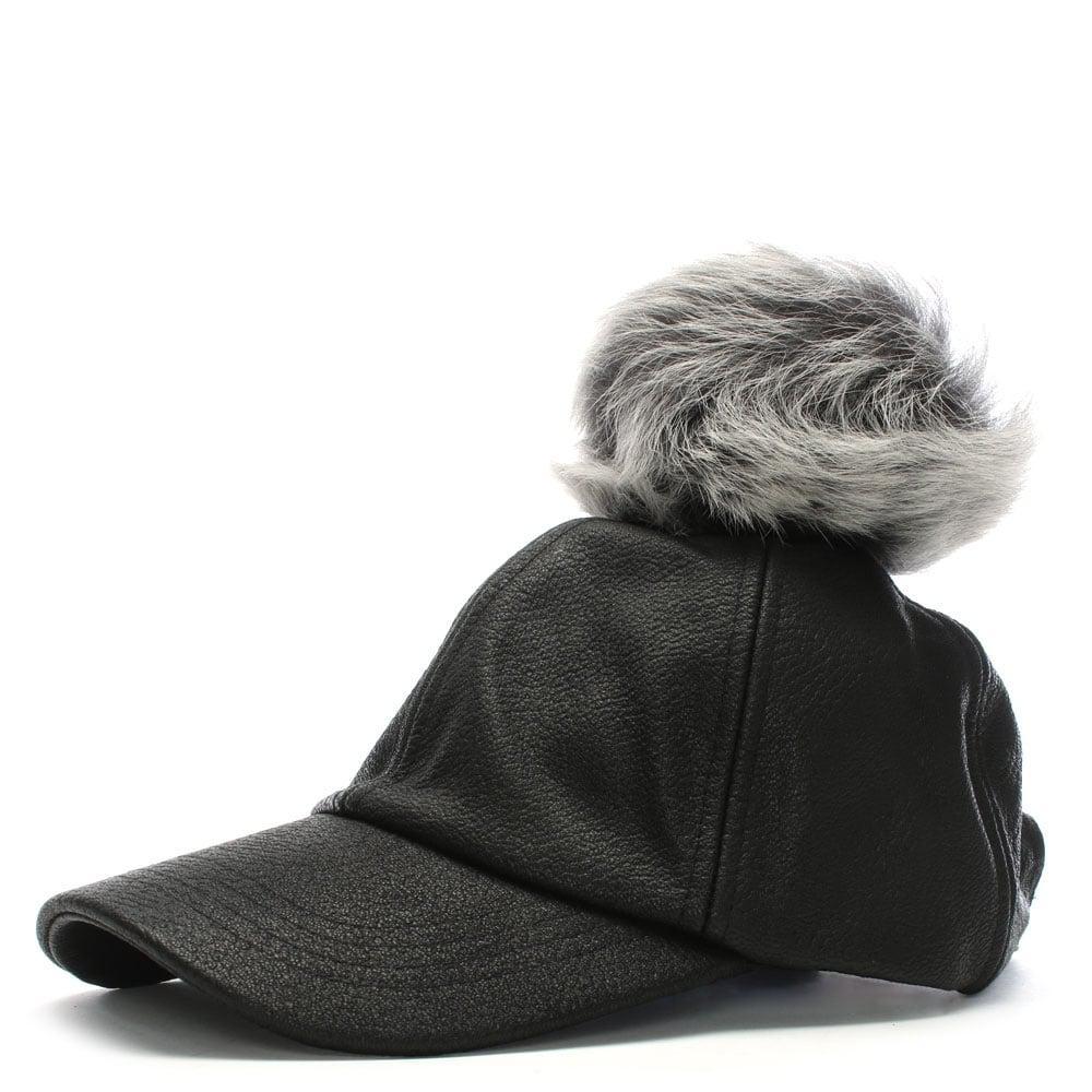 UGG Black Leather Pom Pom Baseball Cap in Black for Men - Lyst a71cf9963f75