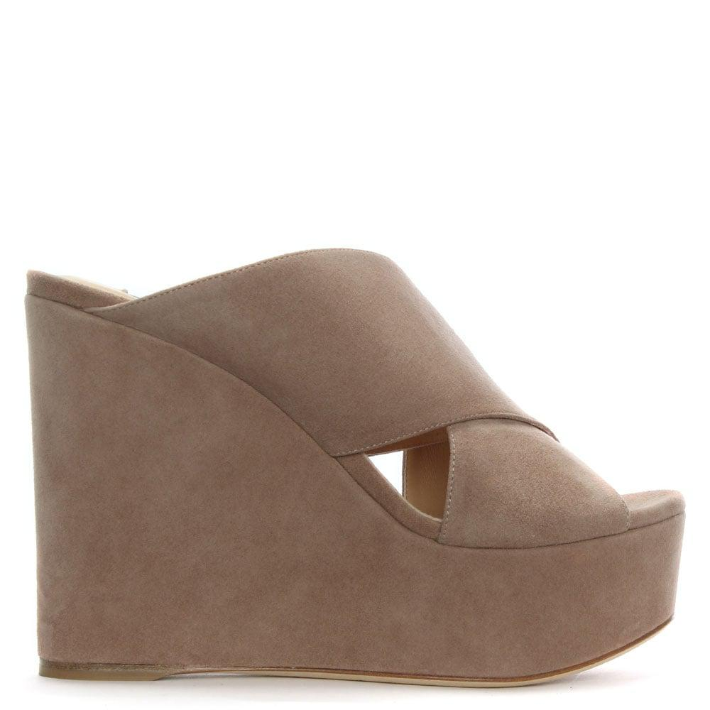 Inexpensive cheap online Sergio Rossi Suede Crossover Sandals cheap amazing price pay with visa online 5Ypc6xS87