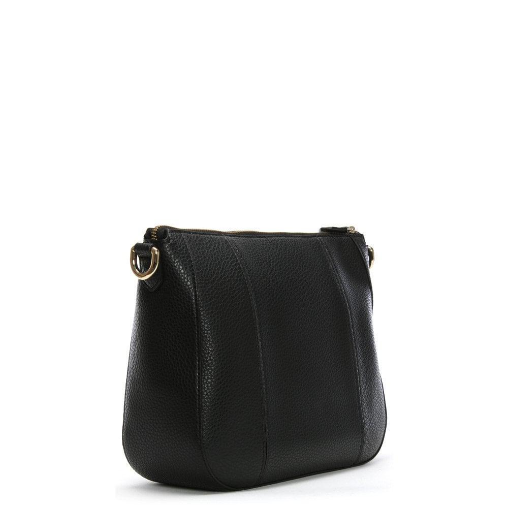 4b3d4b0c99c8 Emporio Armani Spalla Pebbled Black Cross-body Bag in Black - Lyst