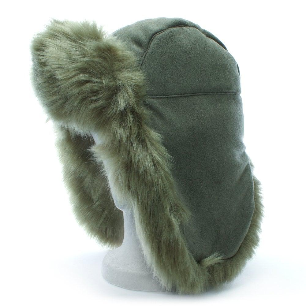 1df99a67043 Lyst - Charlotte Simone Helmet Head Khaki Faux Fur Trapper Hat in Green