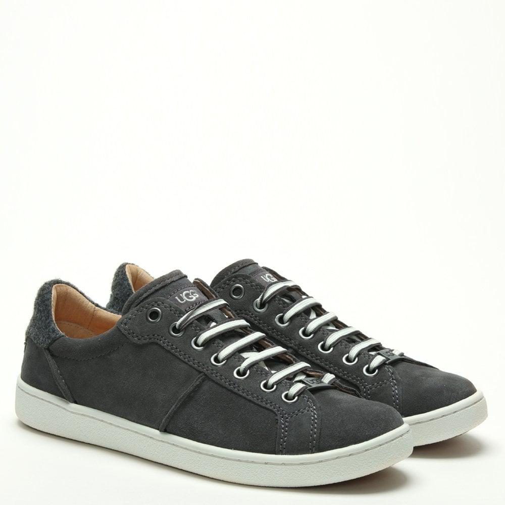 f3a5c1263b2 UGG Milo Charcoal Suede Lace Up Trainers in Gray - Lyst