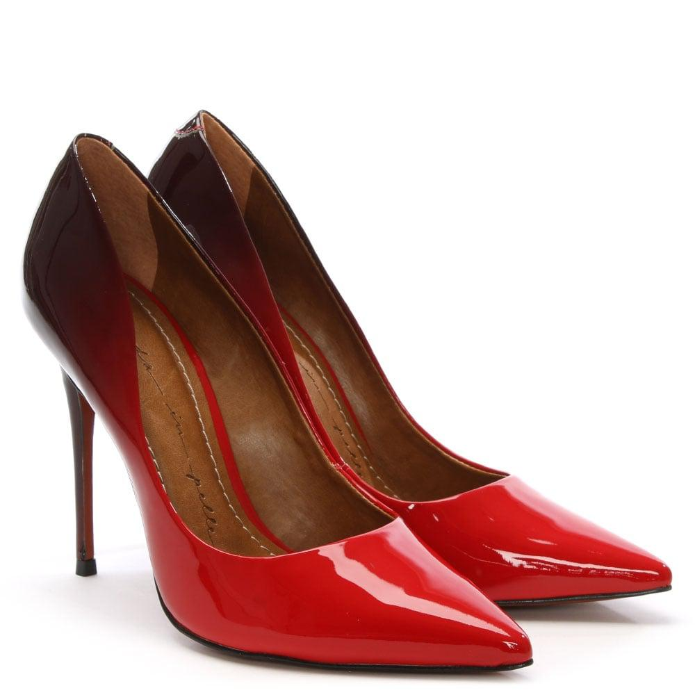 4adfdbc52ed4 Moda In Pelle - Cristina Ombre Red Patent Court Shoe - Lyst. View fullscreen